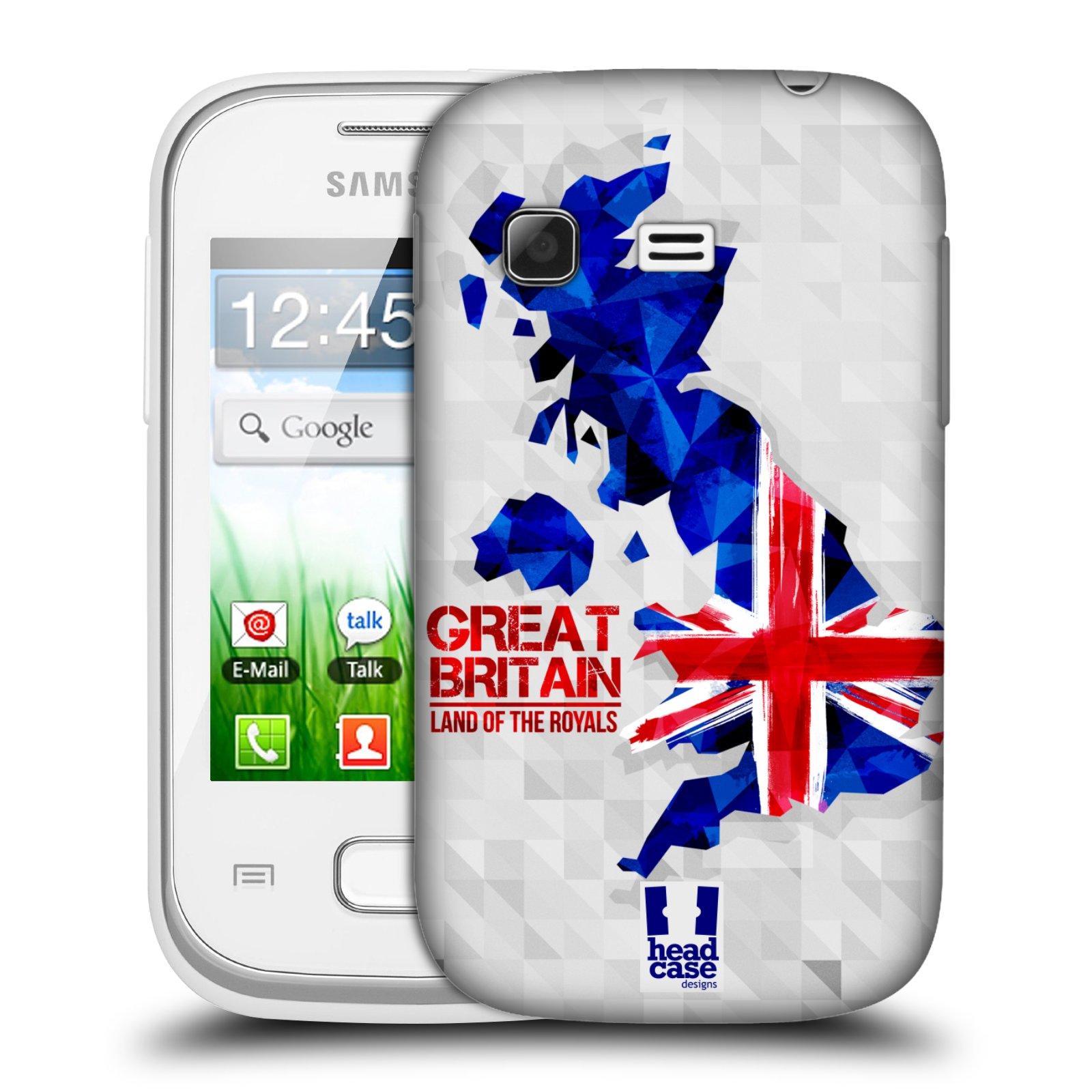Plastové pouzdro na mobil Samsung Galaxy Pocket HEAD CASE GEOMAPA VELKÁ BRTÁNIE (Kryt či obal na mobilní telefon Samsung Galaxy Pocket GT-S5300)