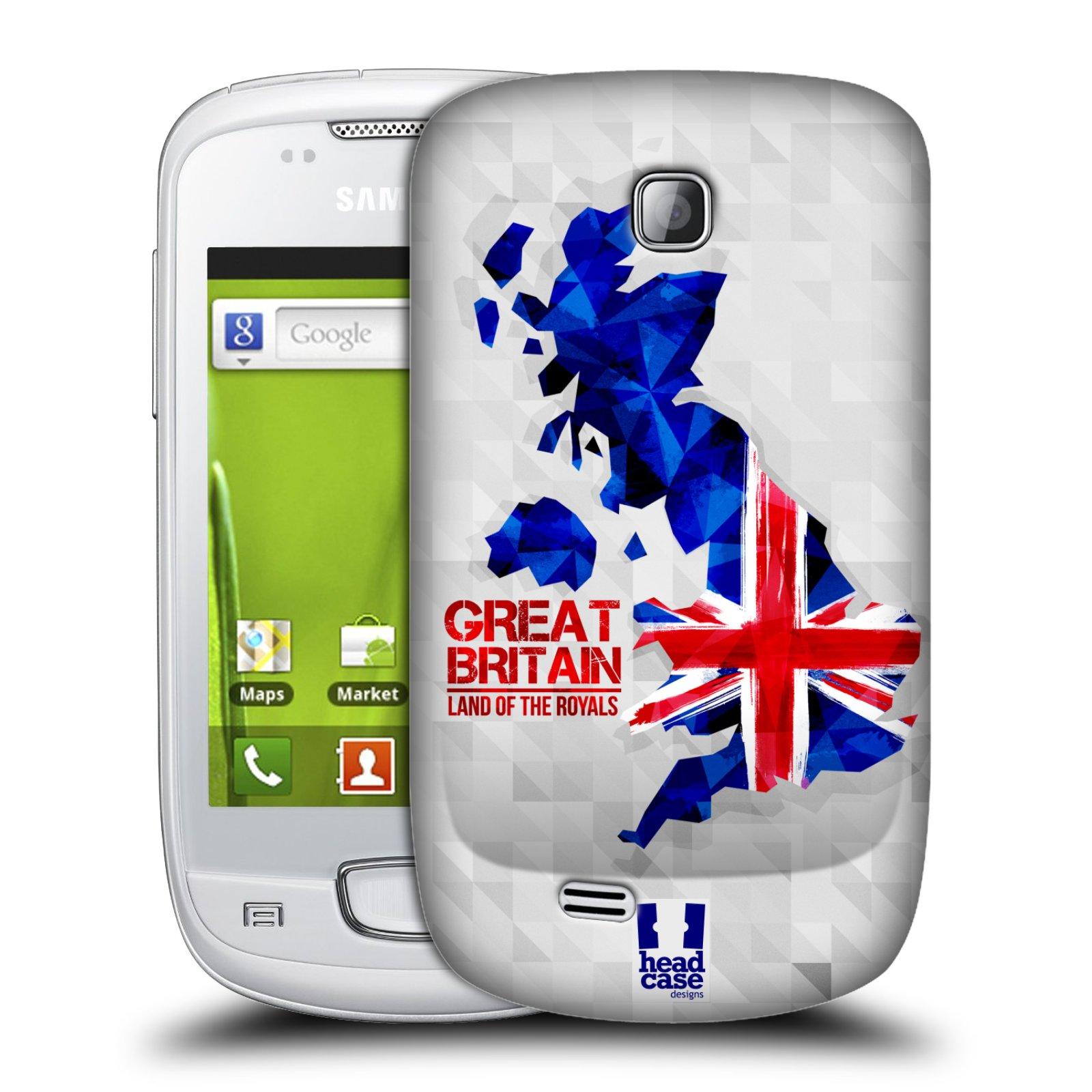 Plastové pouzdro na mobil Samsung Galaxy Mini HEAD CASE GEOMAPA VELKÁ BRTÁNIE (Kryt či obal na mobilní telefon Samsung Galaxy Mini GT-S5570 / GT-S5570i)