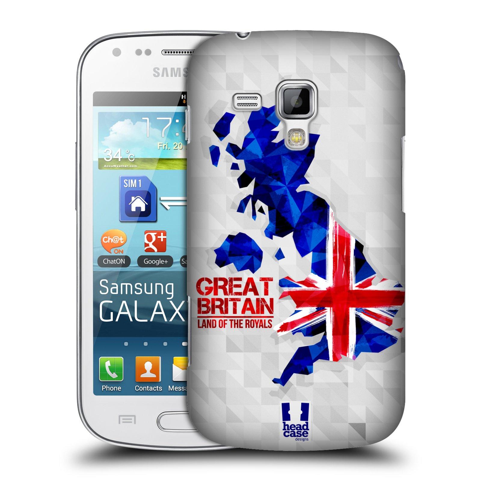 Plastové pouzdro na mobil Samsung Galaxy Trend Plus HEAD CASE GEOMAPA VELKÁ BRTÁNIE (Kryt či obal na mobilní telefon Samsung Galaxy Trend Plus GT-S7580)