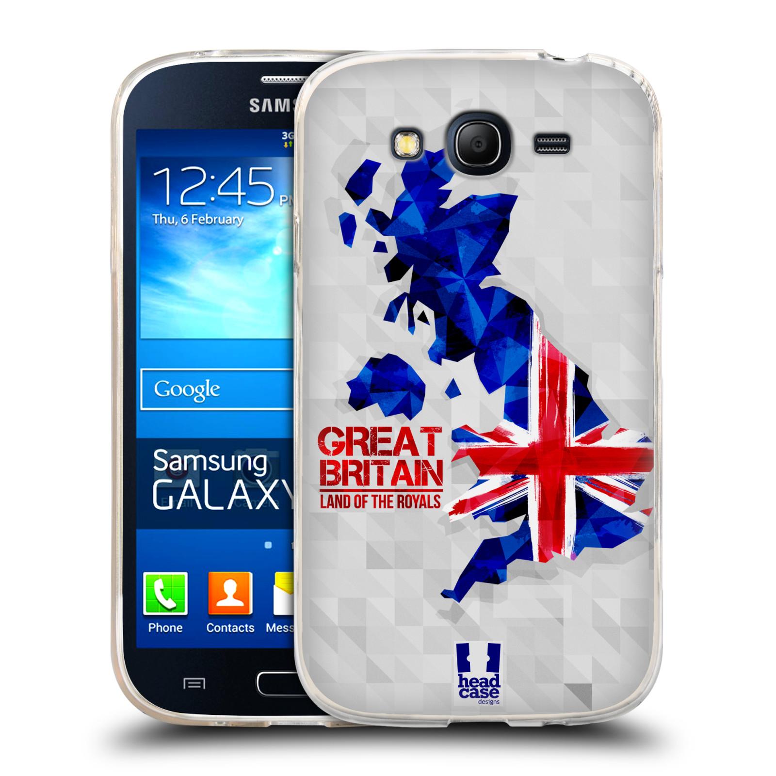 Silikonové pouzdro na mobil Samsung Galaxy Grand Neo Plus HEAD CASE GEOMAPA VELKÁ BRTÁNIE (Silikonový kryt či obal na mobilní telefon Samsung Galaxy Grand Neo Plus Duos GT-I9060i)