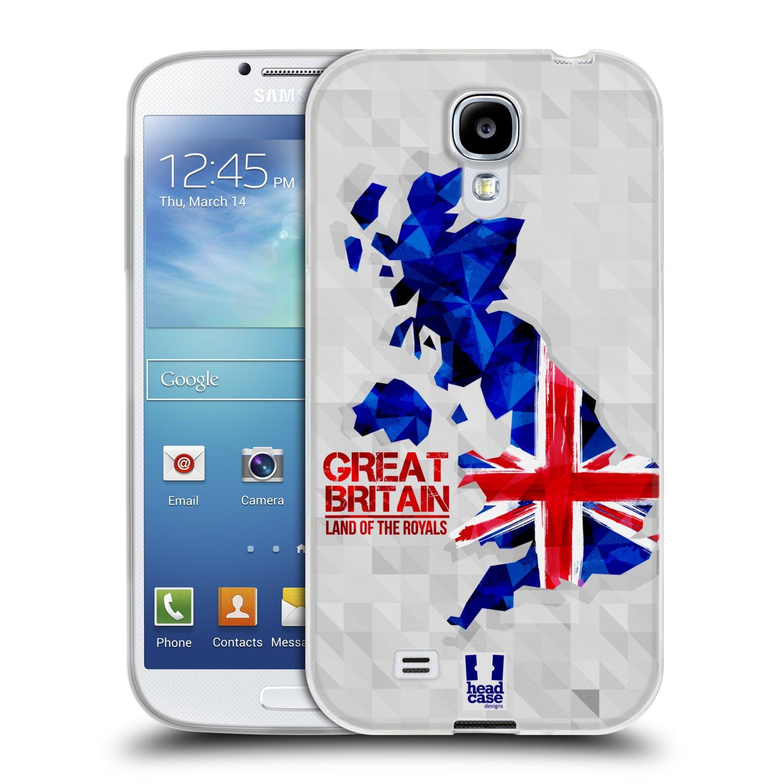 Silikonové pouzdro na mobil Samsung Galaxy S4 HEAD CASE GEOMAPA VELKÁ BRTÁNIE (Silikonový kryt či obal na mobilní telefon Samsung Galaxy S4 GT-i9505 / i9500)