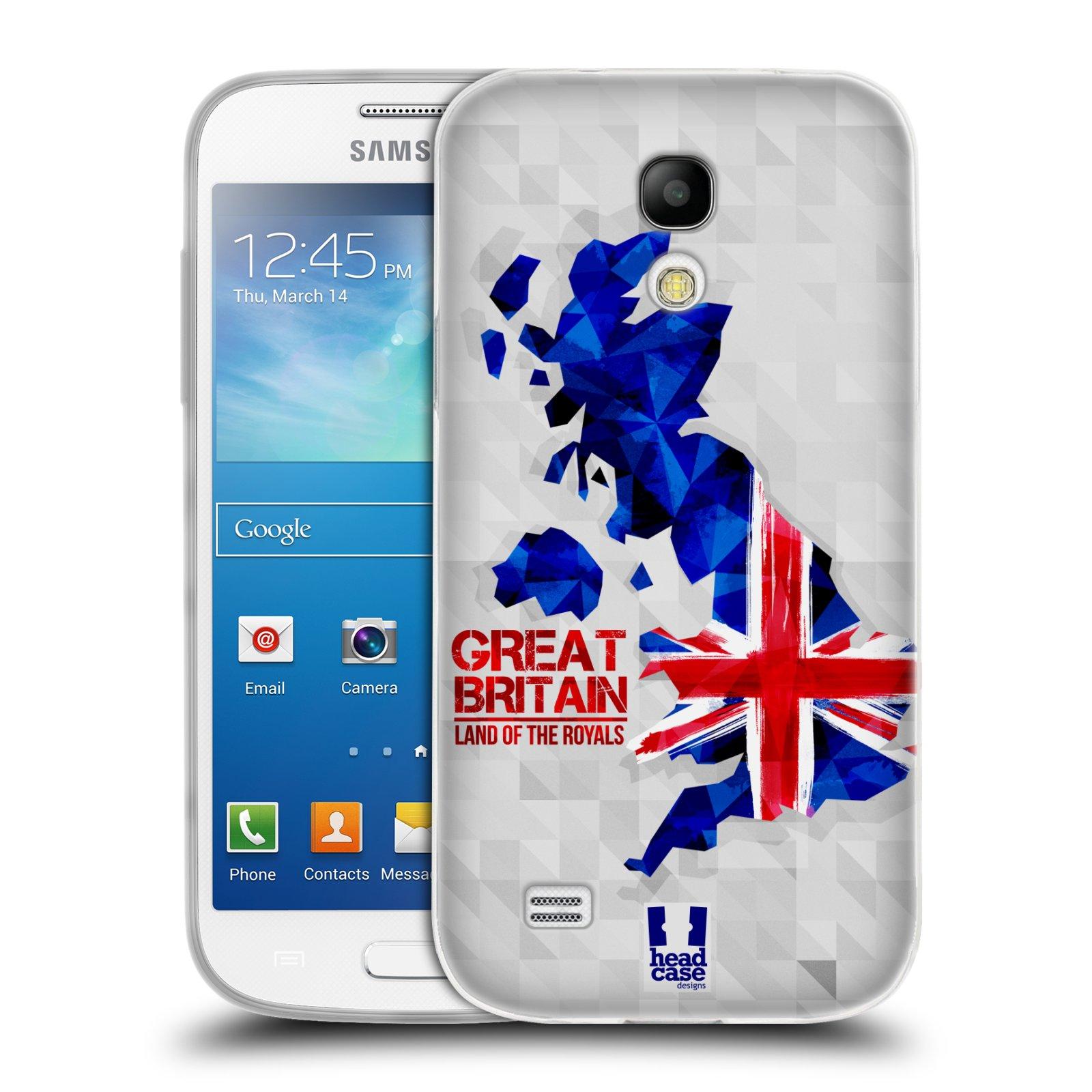 Silikonové pouzdro na mobil Samsung Galaxy S4 Mini HEAD CASE GEOMAPA VELKÁ BRTÁNIE (Silikonový kryt či obal na mobilní telefon Samsung Galaxy S4 Mini GT-i9195 / i9190 (nepasuje na verzi Black Edition))