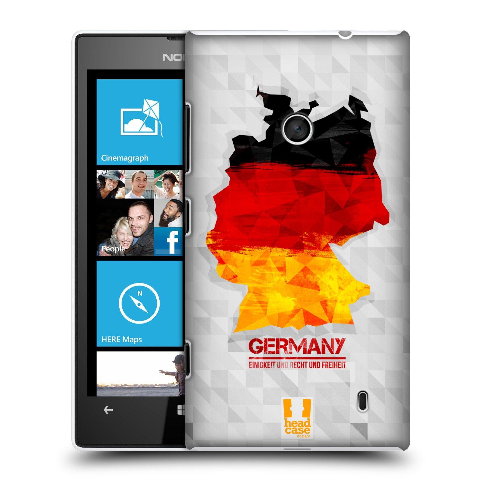 Plastové pouzdro na mobil Nokia Lumia 520 HEAD CASE GEOMAPA NĚMECKO (Kryt či obal na mobilní telefon Nokia Lumia 520 )