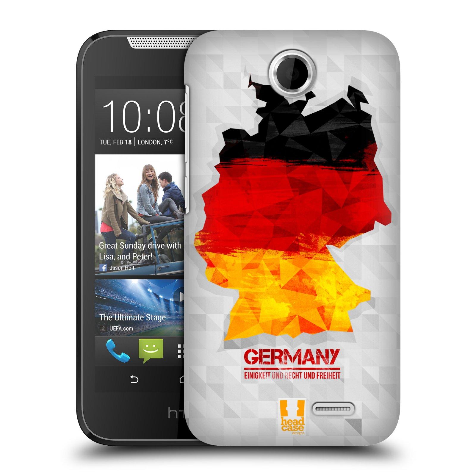 Plastové pouzdro na mobil HTC Desire 310 HEAD CASE GEOMAPA NĚMECKO (Kryt či obal na mobilní telefon HTC Desire 310)