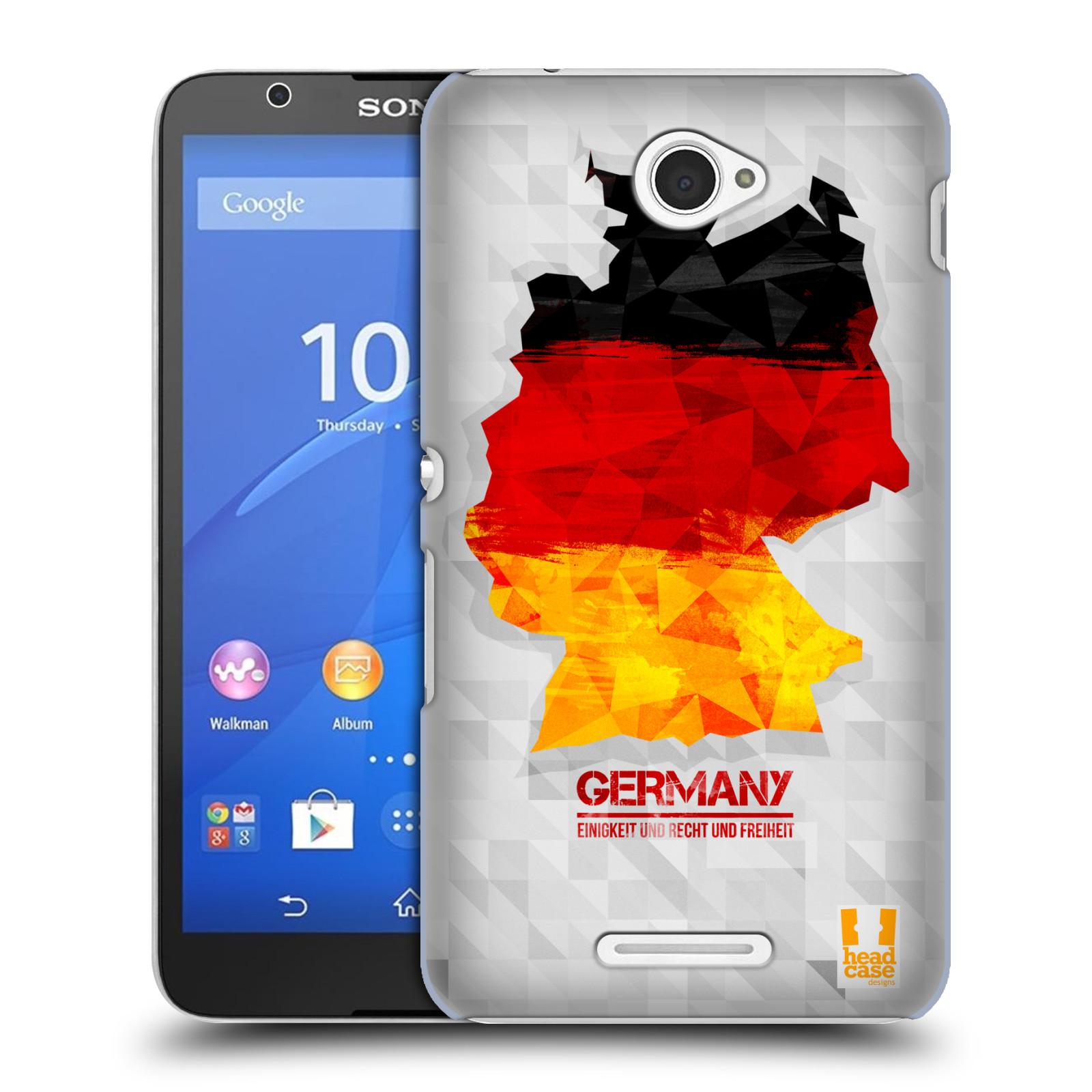 Plastové pouzdro na mobil Sony Xperia E4 E2105 HEAD CASE GEOMAPA NĚMECKO (Kryt či obal na mobilní telefon Sony Xperia E4 a E4 Dual SIM)