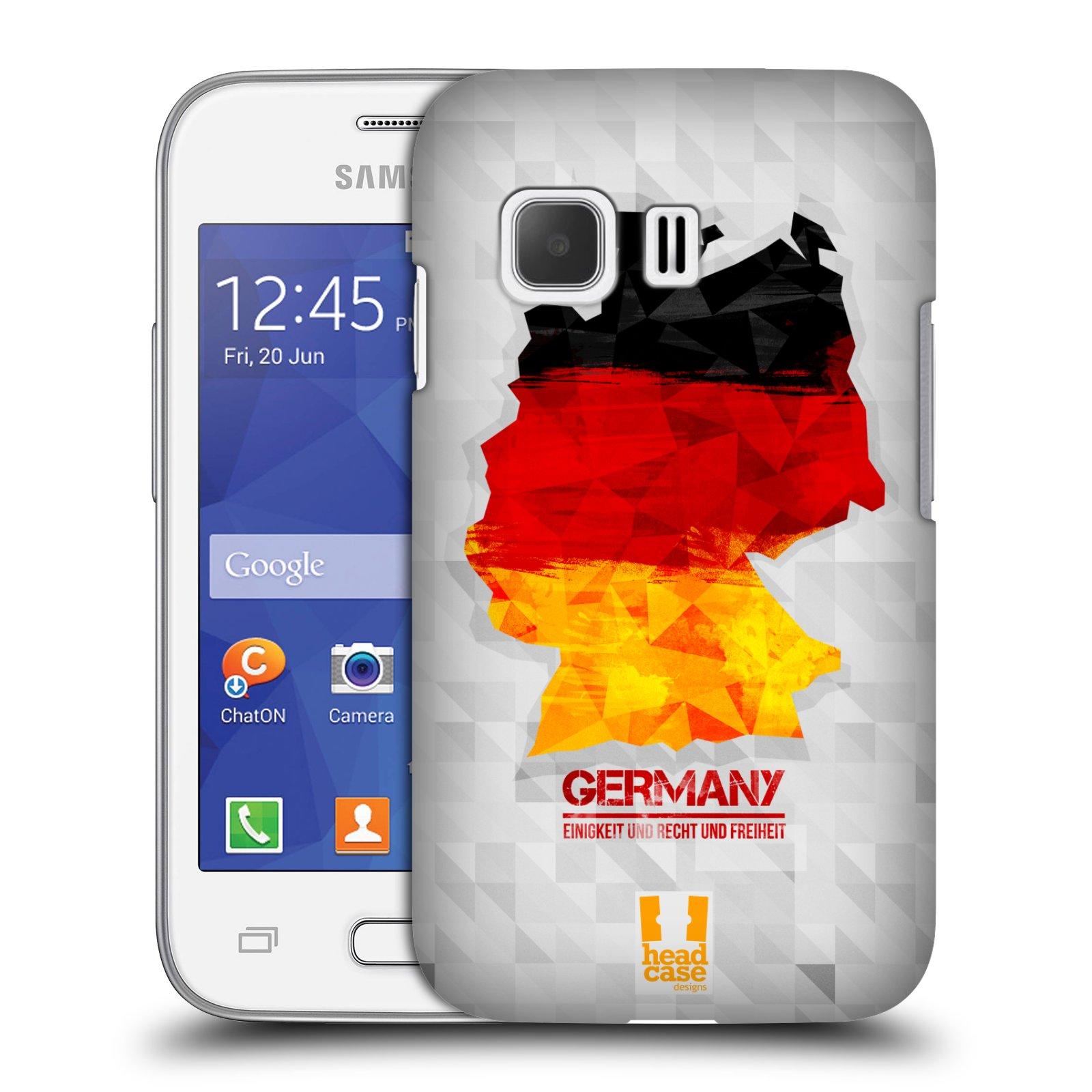 Plastové pouzdro na mobil Samsung Galaxy Young 2 HEAD CASE GEOMAPA NĚMECKO (Kryt či obal na mobilní telefon Samsung Galaxy Young 2 SM-G130)
