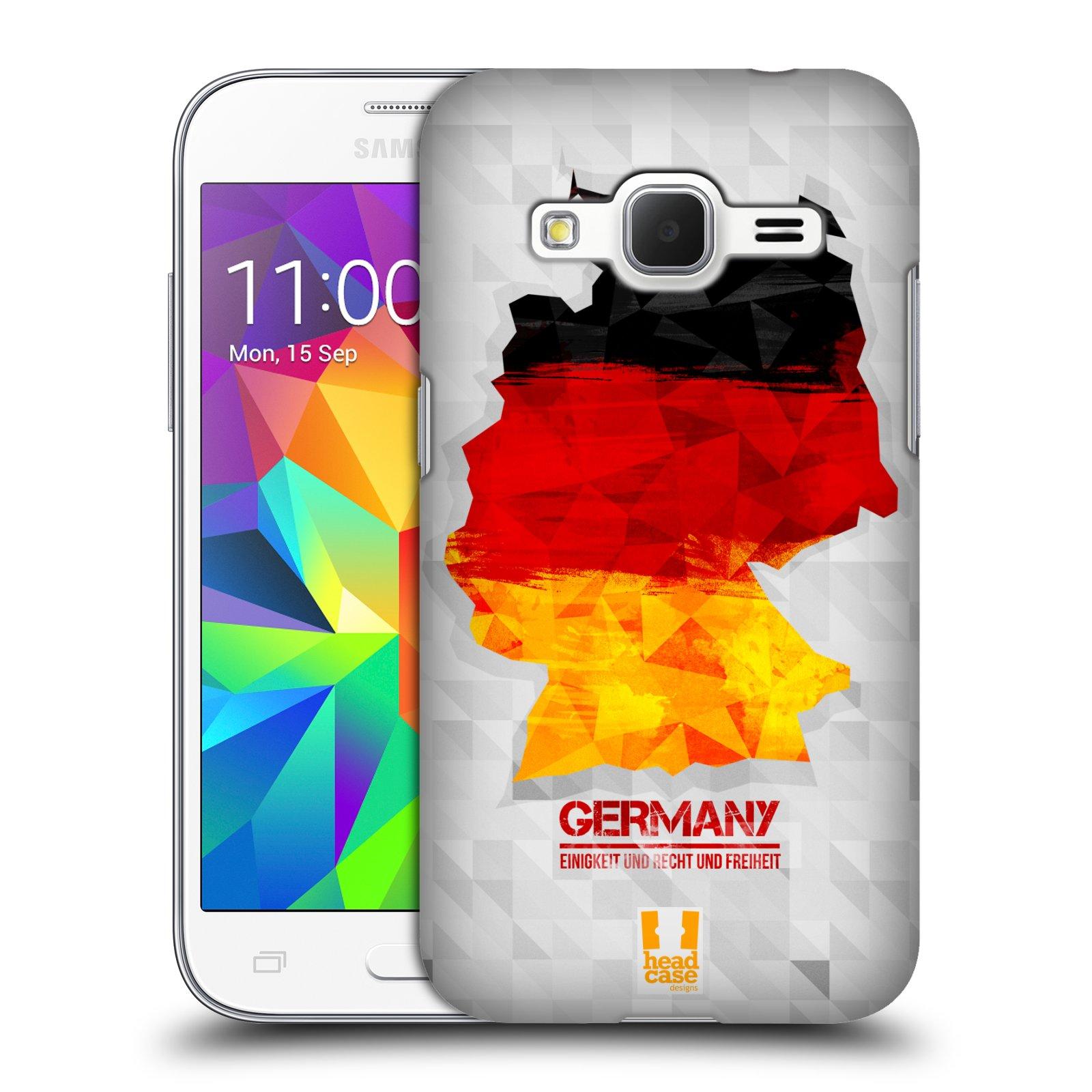 Plastové pouzdro na mobil Samsung Galaxy Core Prime VE HEAD CASE GEOMAPA NĚMECKO (Kryt či obal na mobilní telefon Samsung Galaxy Core Prime LTE VE SM-G361F)