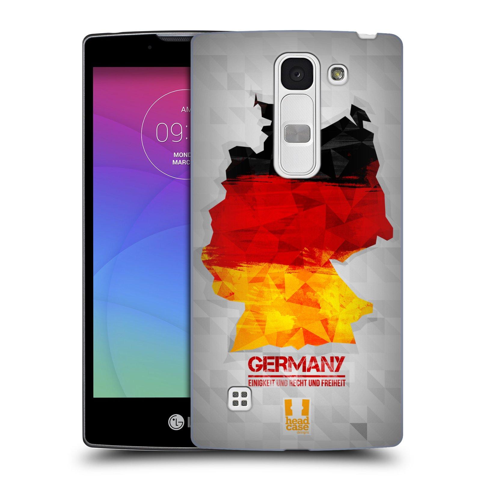 Plastové pouzdro na mobil LG Spirit LTE HEAD CASE GEOMAPA NĚMECKO (Kryt či obal na mobilní telefon LG Spirit H420 a LG Spirit LTE H440N)