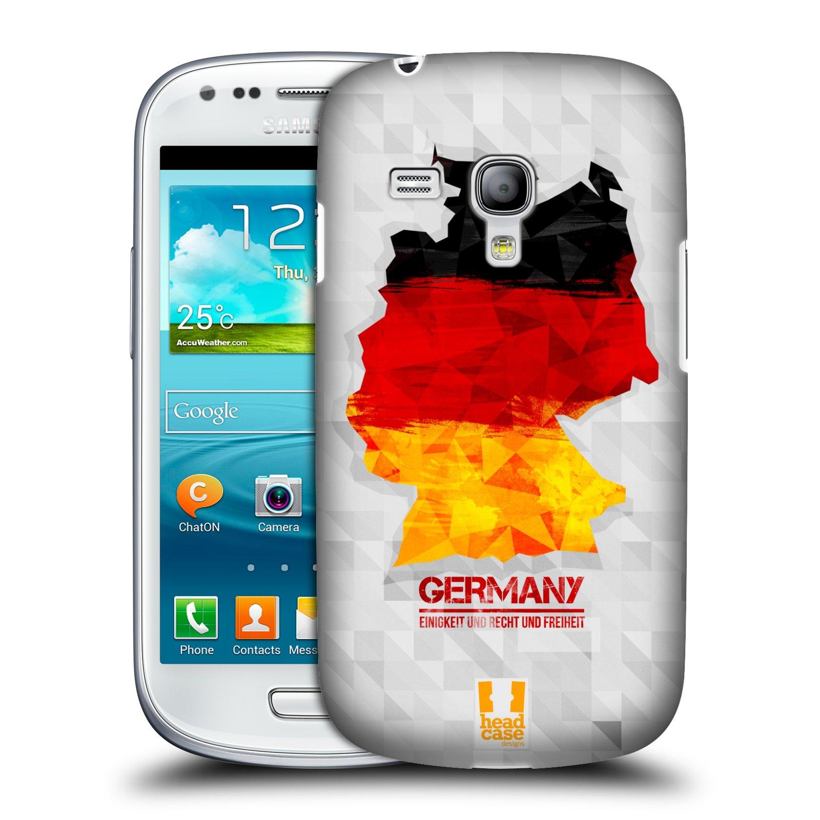 Plastové pouzdro na mobil Samsung Galaxy S III Mini HEAD CASE GEOMAPA NĚMECKO (Kryt či obal na mobilní telefon Samsung Galaxy S III Mini GT-i8190)