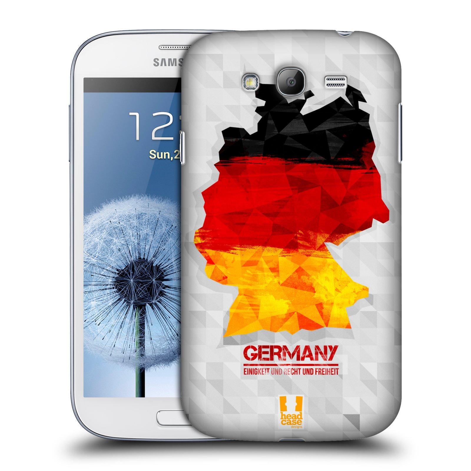 Plastové pouzdro na mobil Samsung Galaxy Grand Neo Plus HEAD CASE GEOMAPA NĚMECKO (Kryt či obal na mobilní telefon Samsung Galaxy Grand Neo Plus GT-i9060i)