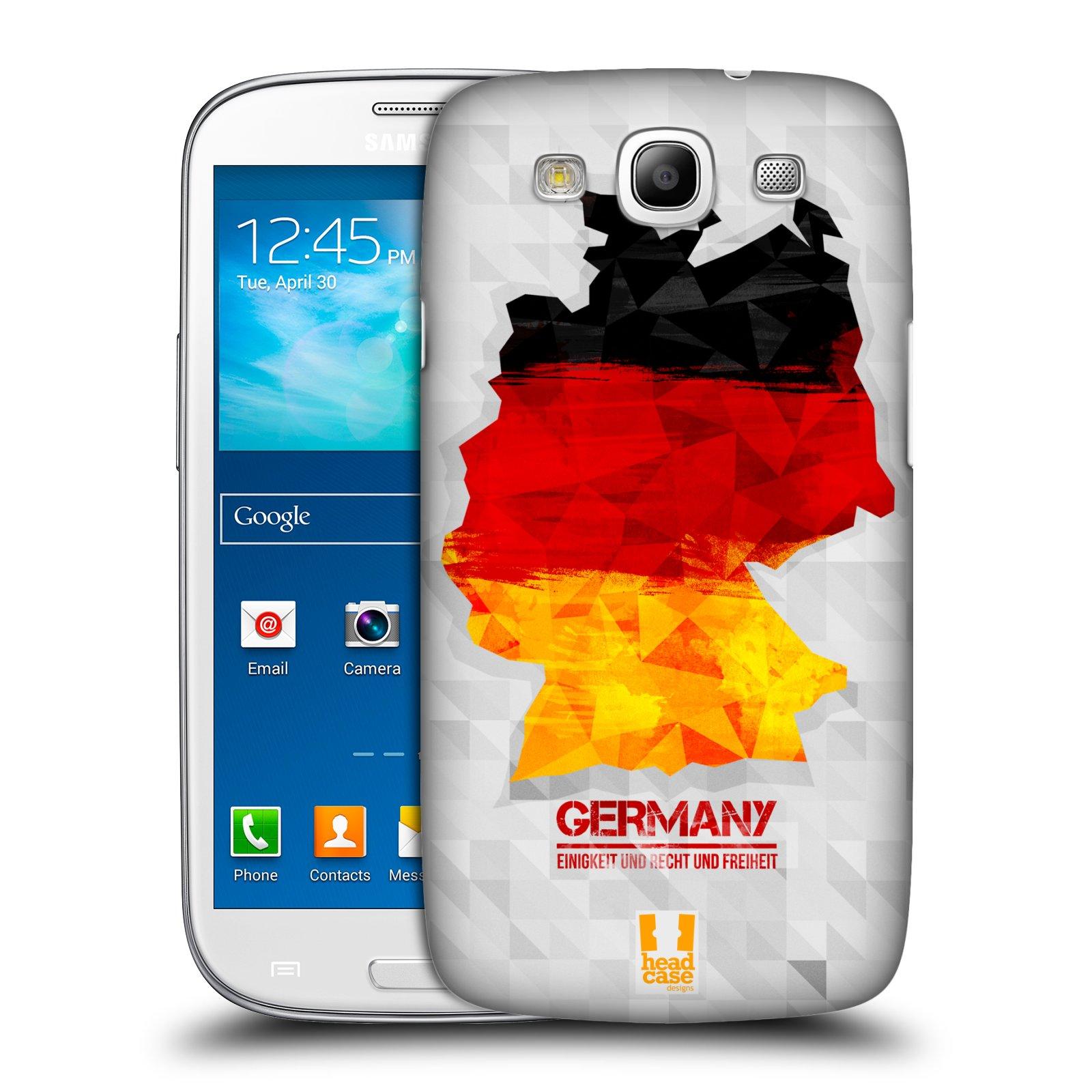 Plastové pouzdro na mobil Samsung Galaxy S3 Neo HEAD CASE GEOMAPA NĚMECKO
