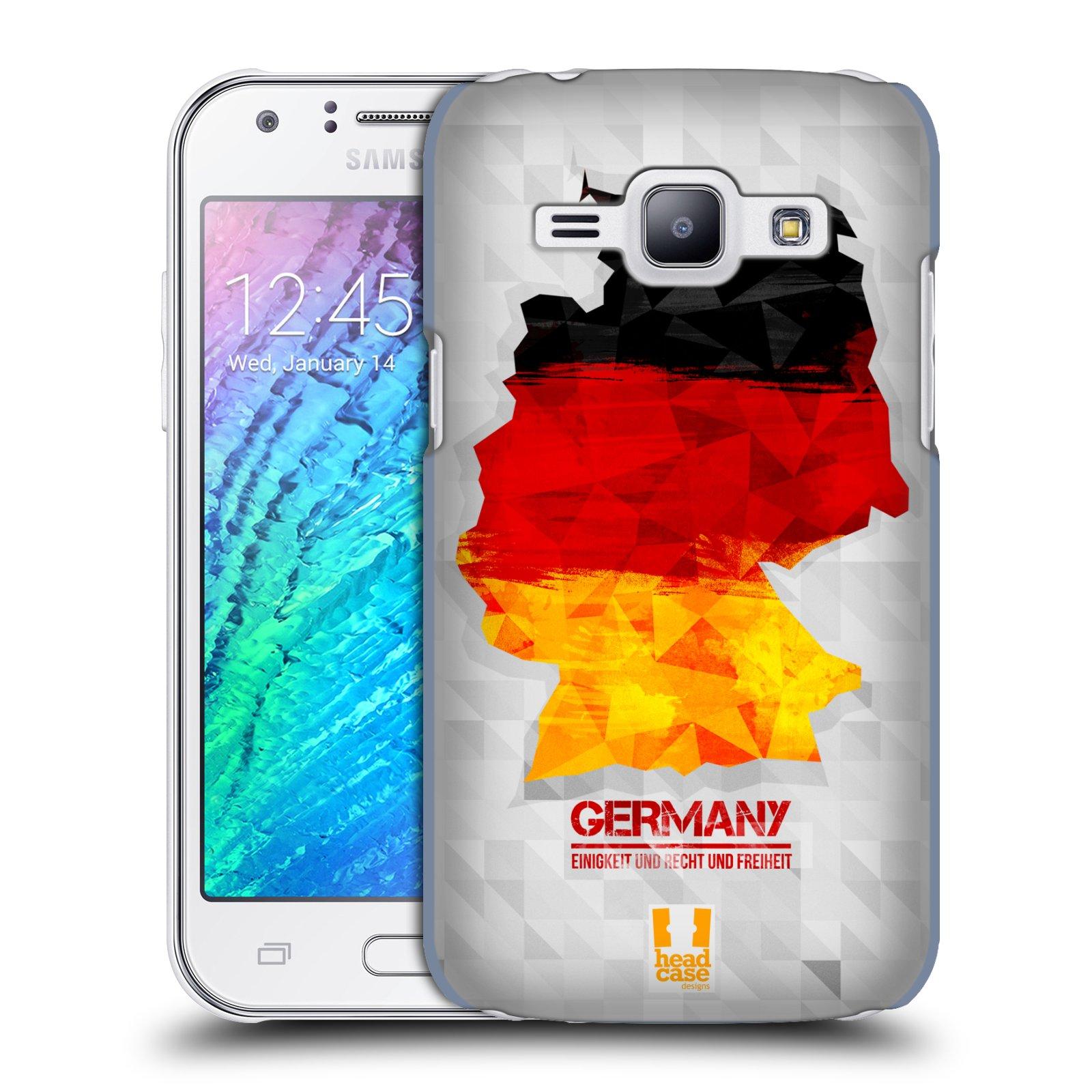 Plastové pouzdro na mobil Samsung Galaxy J1 HEAD CASE GEOMAPA NĚMECKO (Kryt či obal na mobilní telefon Samsung Galaxy J1 a J1 Duos )