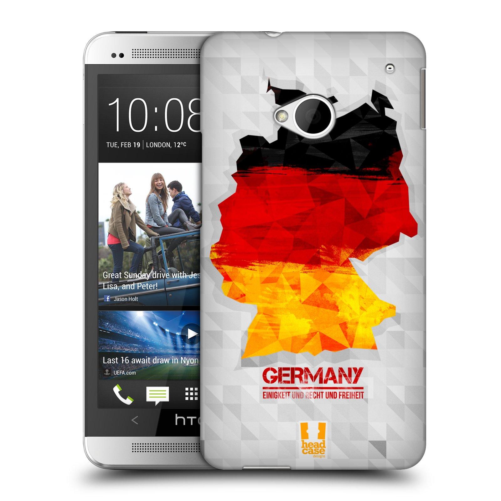 Plastové pouzdro na mobil HTC ONE M7 HEAD CASE GEOMAPA NĚMECKO (Kryt či obal na mobilní telefon HTC ONE M7)