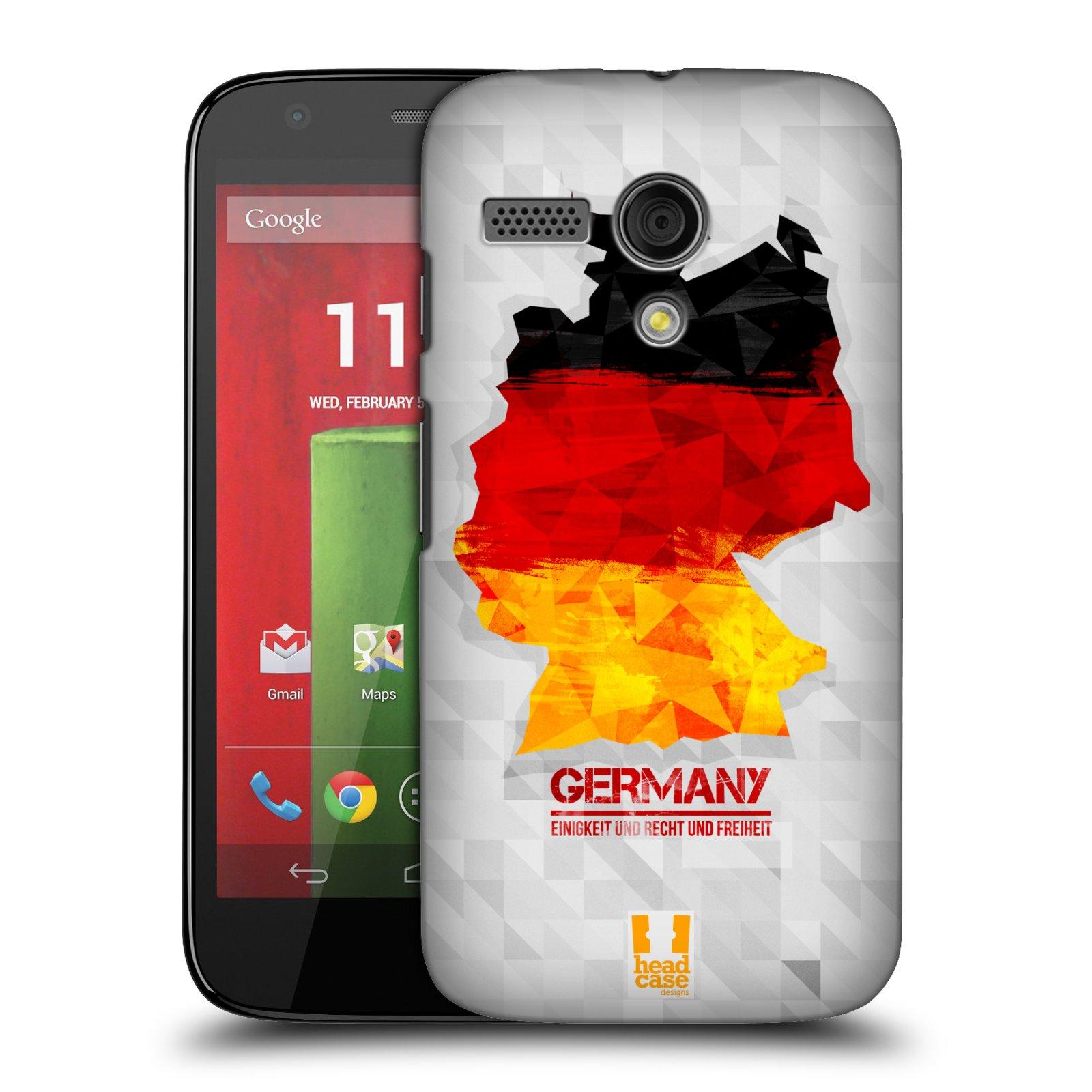 Plastové pouzdro na mobil Motorola Moto G HEAD CASE GEOMAPA NĚMECKO (Kryt či obal na mobilní telefon Motorola Moto G)