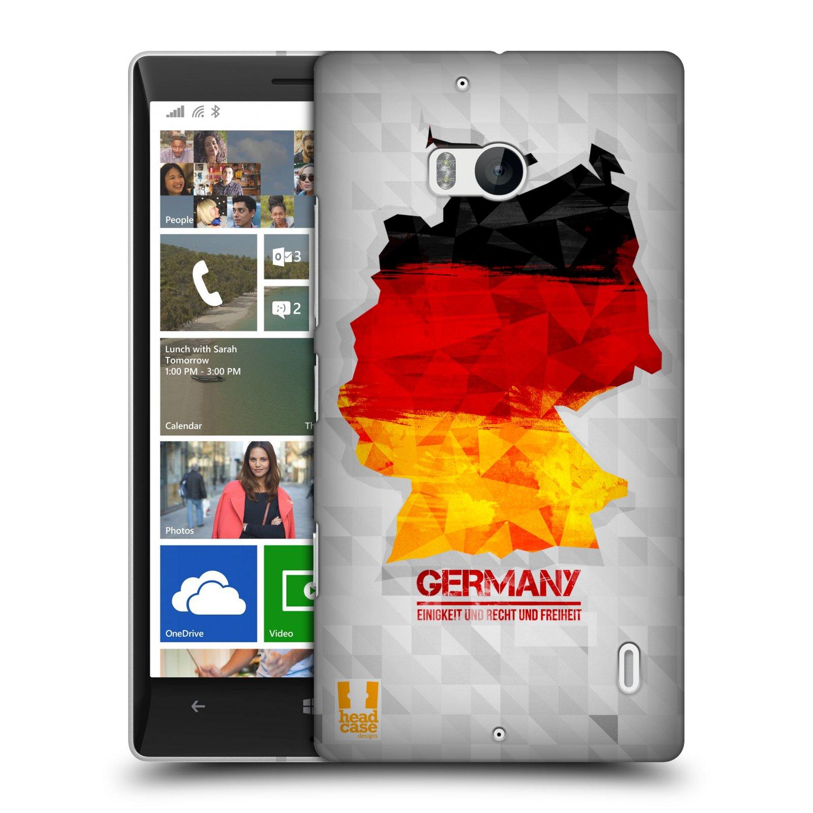 Plastové pouzdro na mobil Nokia Lumia 930 HEAD CASE GEOMAPA NĚMECKO (Kryt či obal na mobilní telefon Nokia Lumia 930)