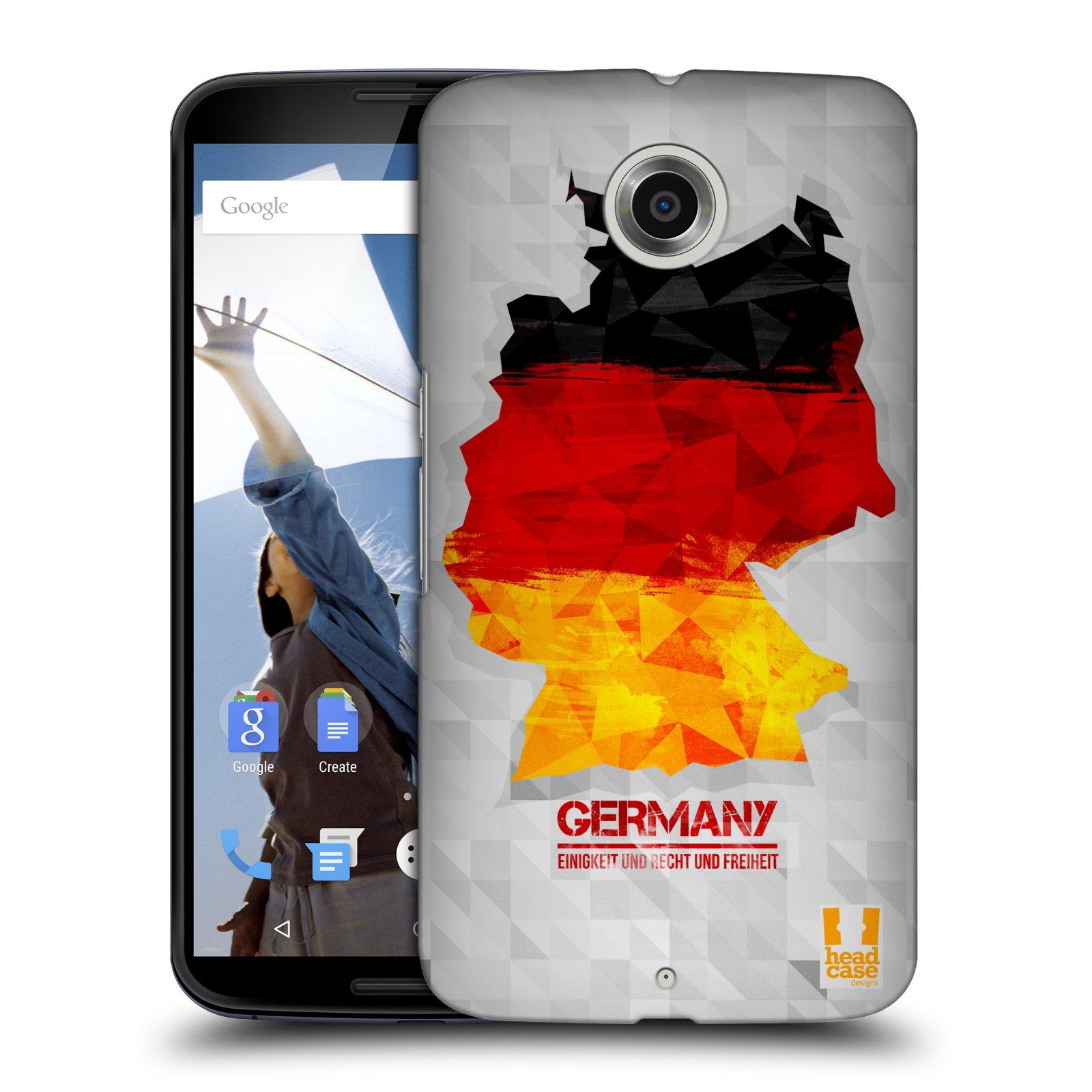 Plastové pouzdro na mobil Motorola Nexus 6 HEAD CASE GEOMAPA NĚMECKO (Kryt či obal na mobilní telefon Motorola Nexus 6)