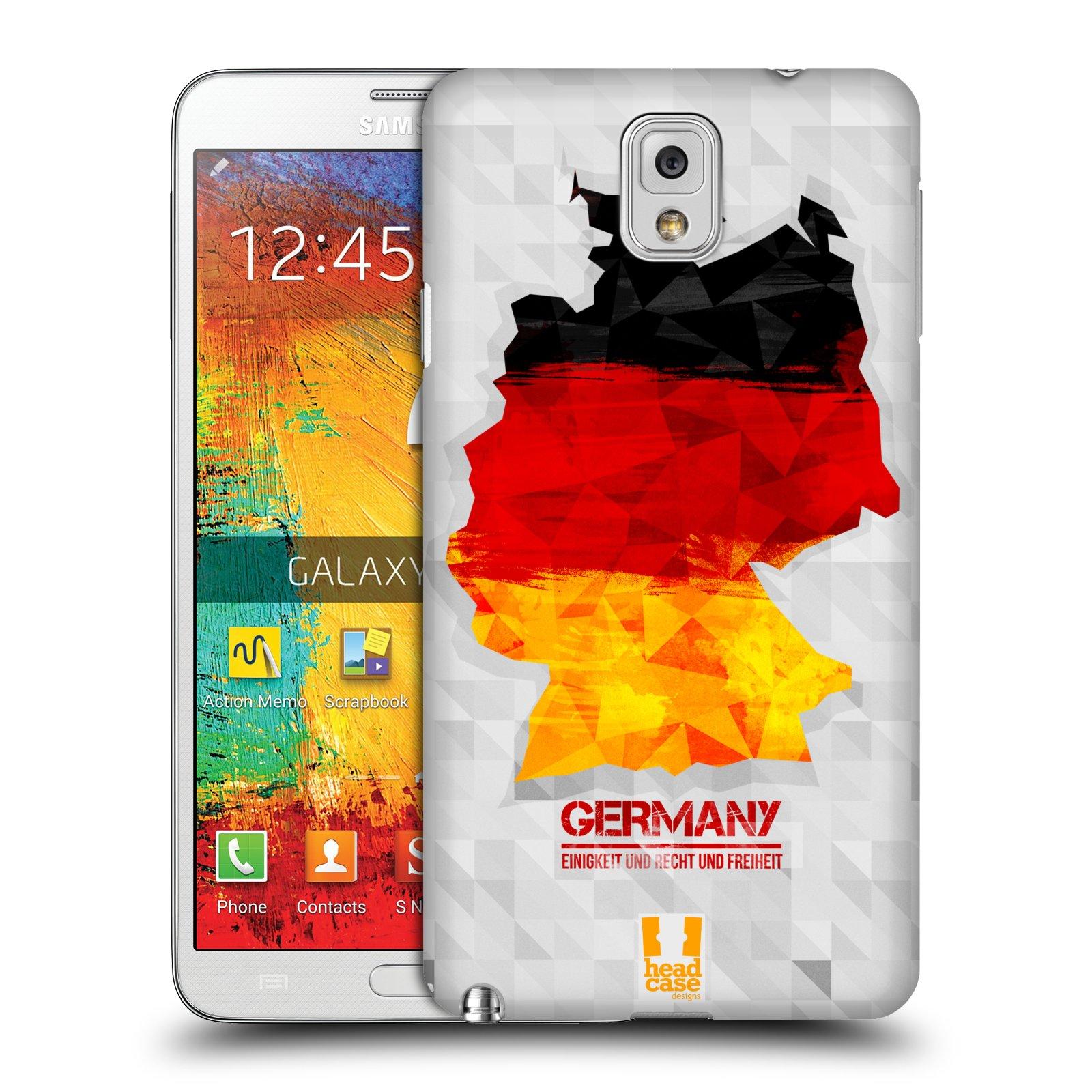 Plastové pouzdro na mobil Samsung Galaxy Note 3 HEAD CASE GEOMAPA NĚMECKO (Kryt či obal na mobilní telefon Samsung Galaxy Note 3 SM-N9005)
