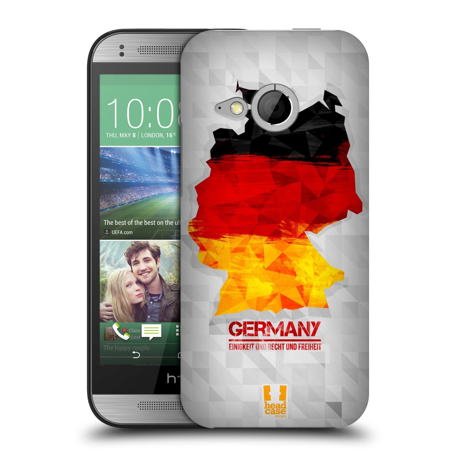 Plastové pouzdro na mobil HTC ONE Mini 2 HEAD CASE GEOMAPA NĚMECKO (Kryt či obal na mobilní telefon HTC ONE Mini 2)