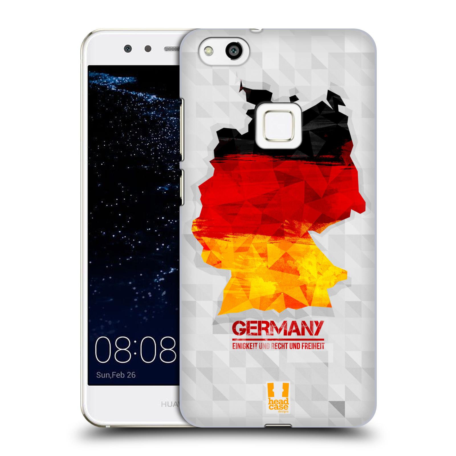 Plastové pouzdro na mobil Huawei P10 Lite Head Case - GEOMAPA NĚMECKO (Plastový kryt či obal na mobilní telefon Huawei P10 Lite Dual SIM (LX1/LX1A))
