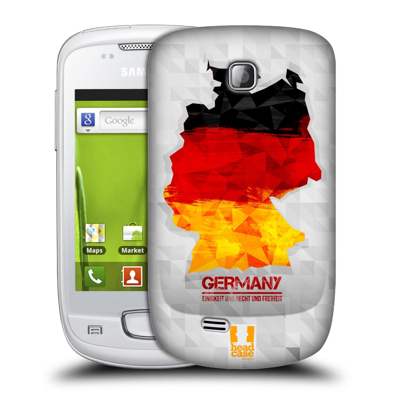 Plastové pouzdro na mobil Samsung Galaxy Mini HEAD CASE GEOMAPA NĚMECKO (Kryt či obal na mobilní telefon Samsung Galaxy Mini GT-S5570 / GT-S5570i)