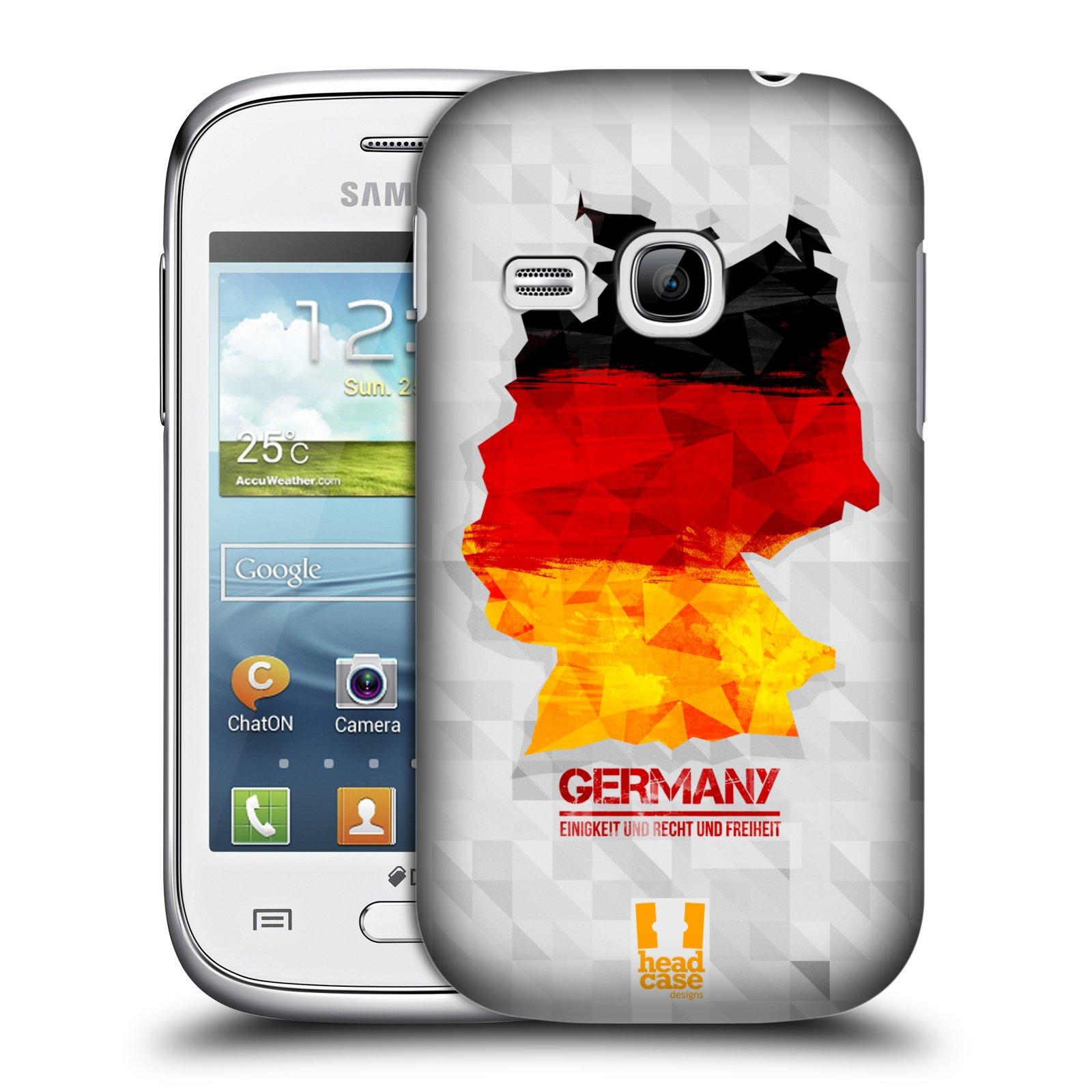 Plastové pouzdro na mobil Samsung Galaxy Young HEAD CASE GEOMAPA NĚMECKO (Kryt či obal na mobilní telefon Samsung Galaxy Young GT-S6310)