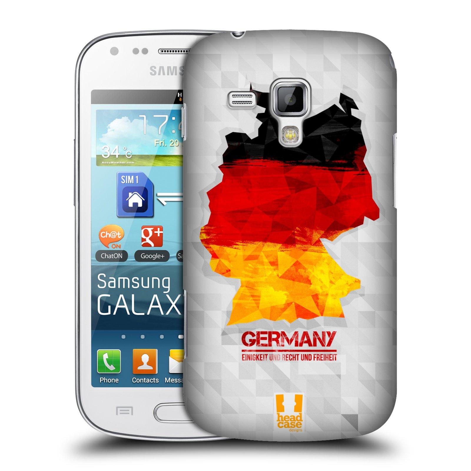 Plastové pouzdro na mobil Samsung Galaxy S Duos HEAD CASE GEOMAPA NĚMECKO (Kryt či obal na mobilní telefon Samsung Galaxy S Duos GT-S7562)