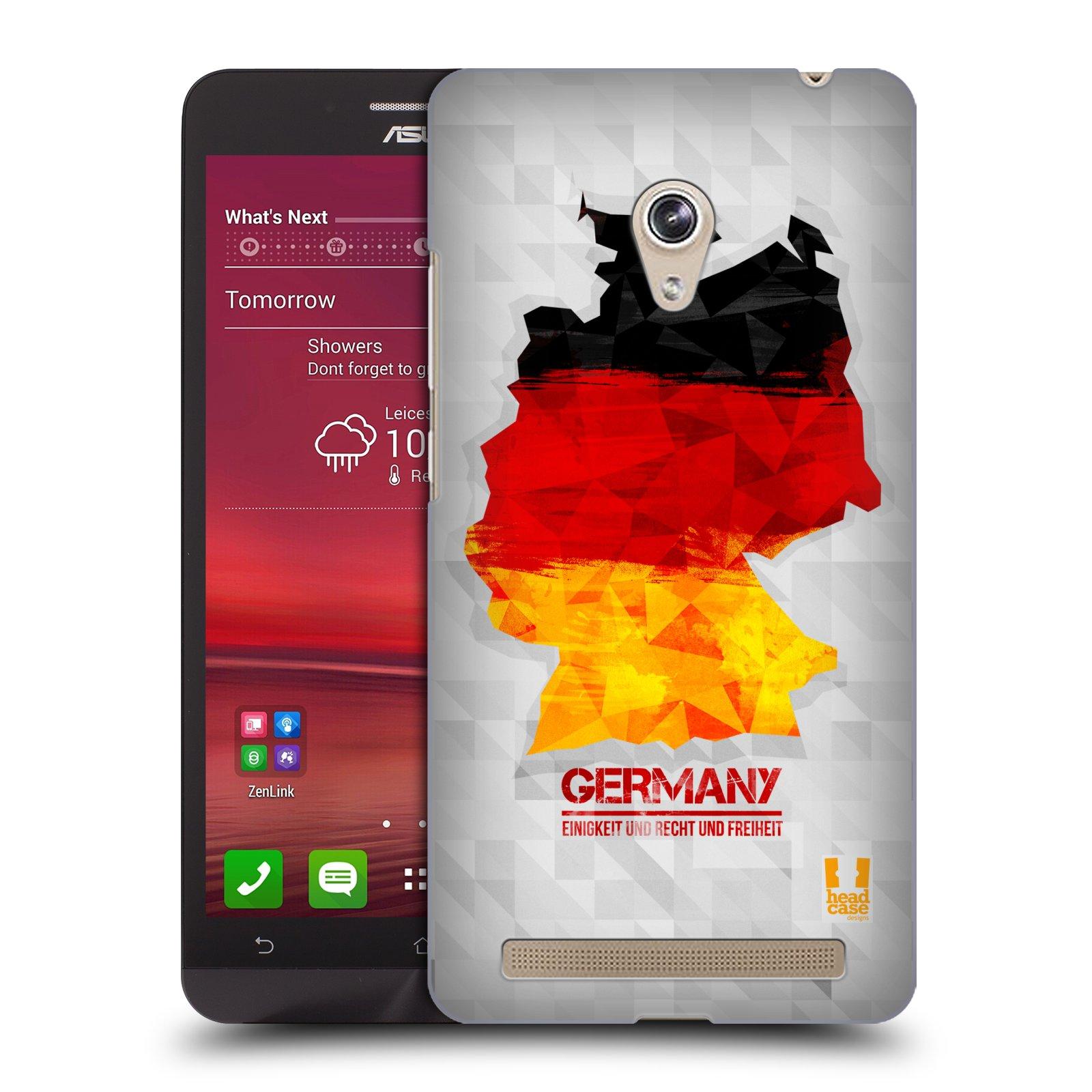 Plastové pouzdro na mobil Asus Zenfone 6 HEAD CASE GEOMAPA NĚMECKO (Kryt či obal na mobilní telefon Asus Zenfone 6 A600CG / A601CG)