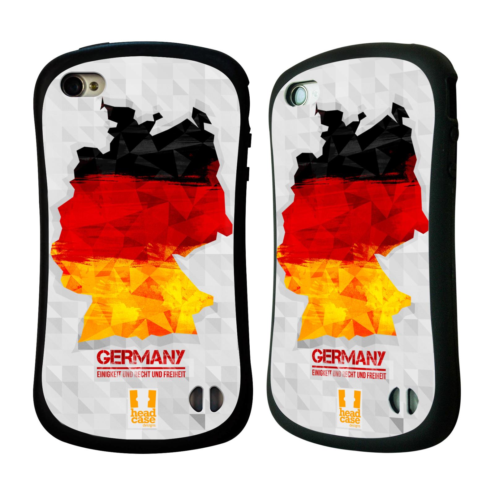 Nárazuvzdorné pouzdro na mobil Apple iPhone 4 a 4S HEAD CASE GEOMAPA NĚMECKO (Odolný nárazuvzdorný silikonový kryt či obal na mobilní telefon Apple iPhone 4 a 4S)