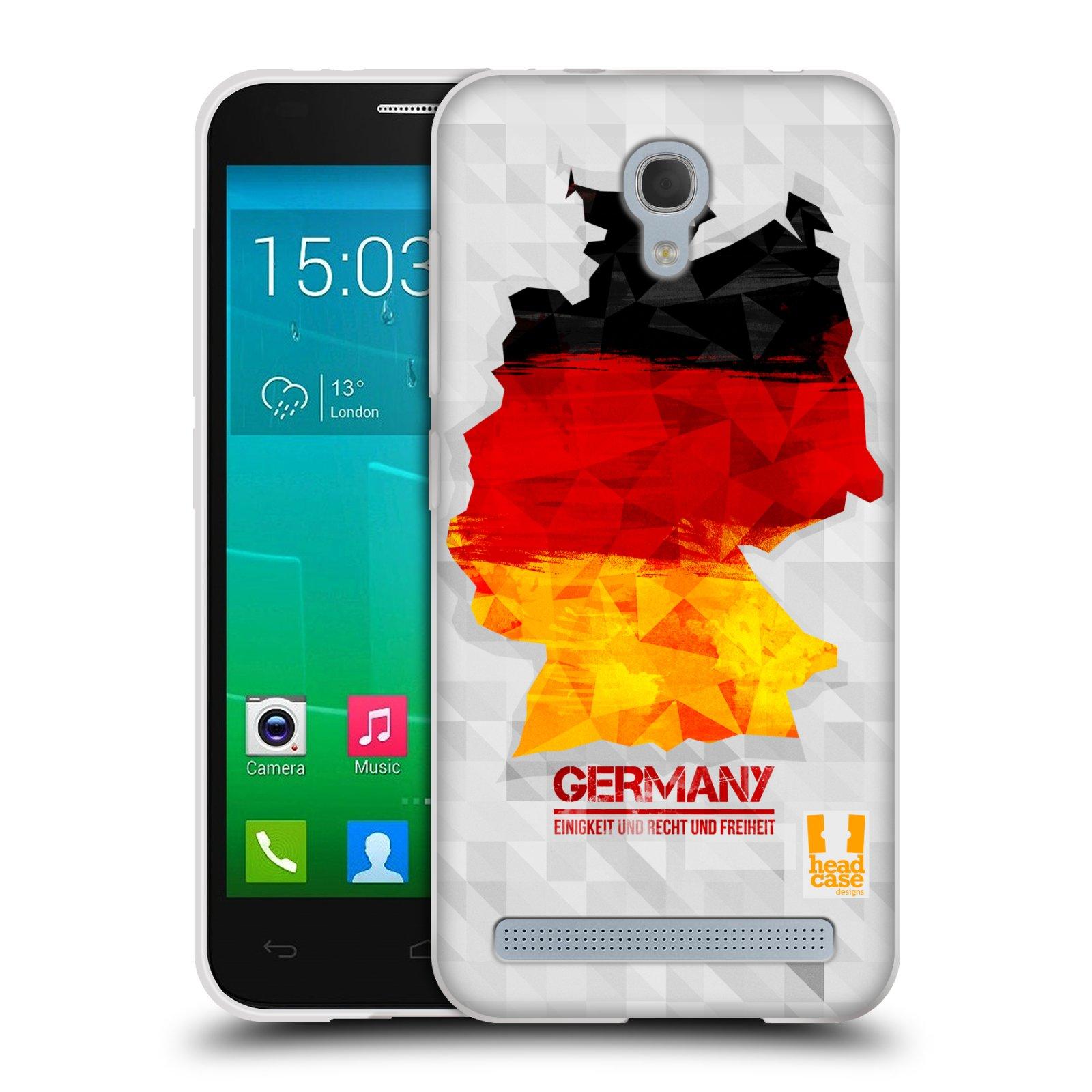 Silikonové pouzdro na mobil Alcatel One Touch Idol 2 Mini S 6036Y HEAD CASE GEOMAPA NĚMECKO (Silikonový kryt či obal na mobilní telefon Alcatel Idol 2 Mini S OT-6036Y)