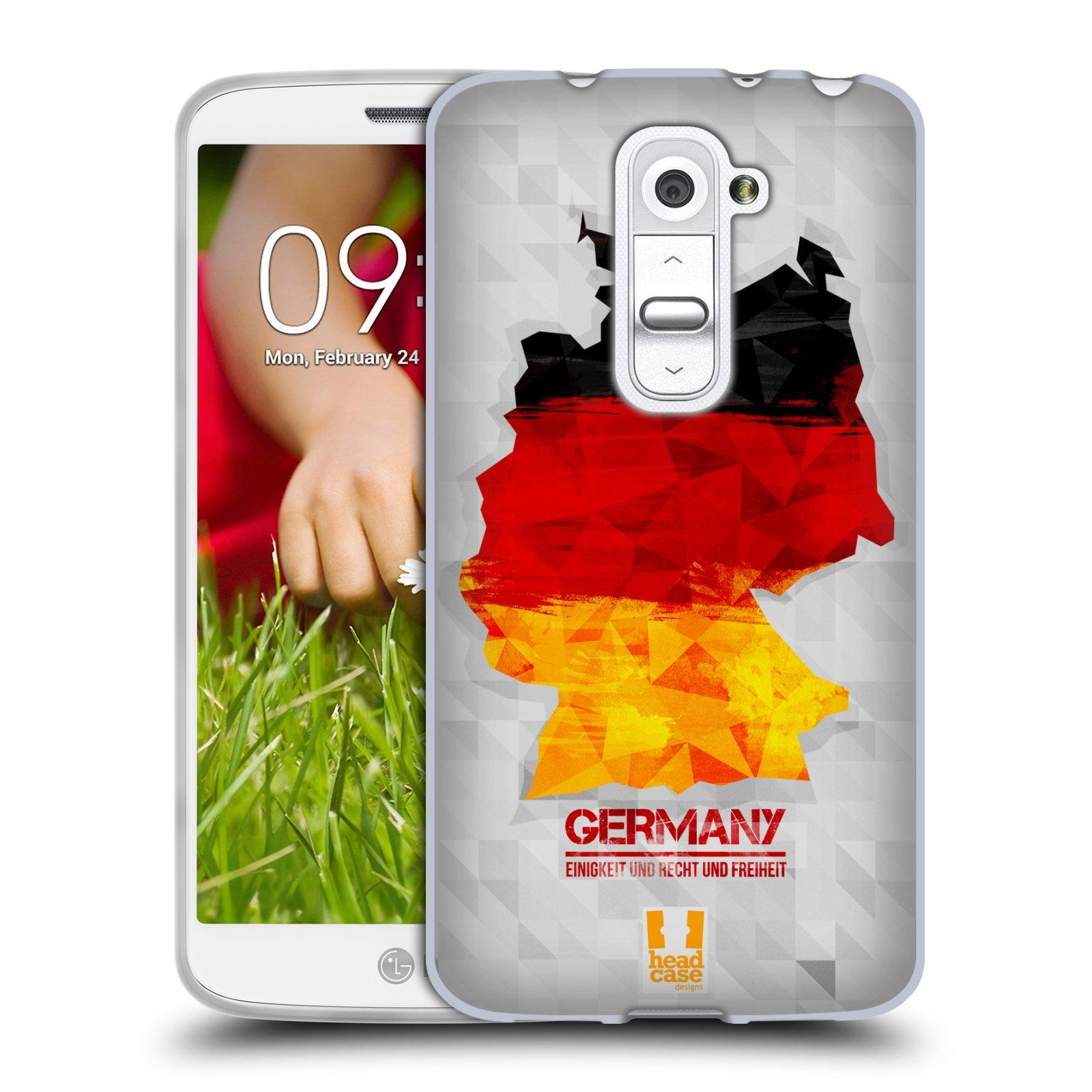 Silikonové pouzdro na mobil LG G2 Mini HEAD CASE GEOMAPA NĚMECKO (Silikonový kryt či obal na mobilní telefon LG G2 Mini D620)