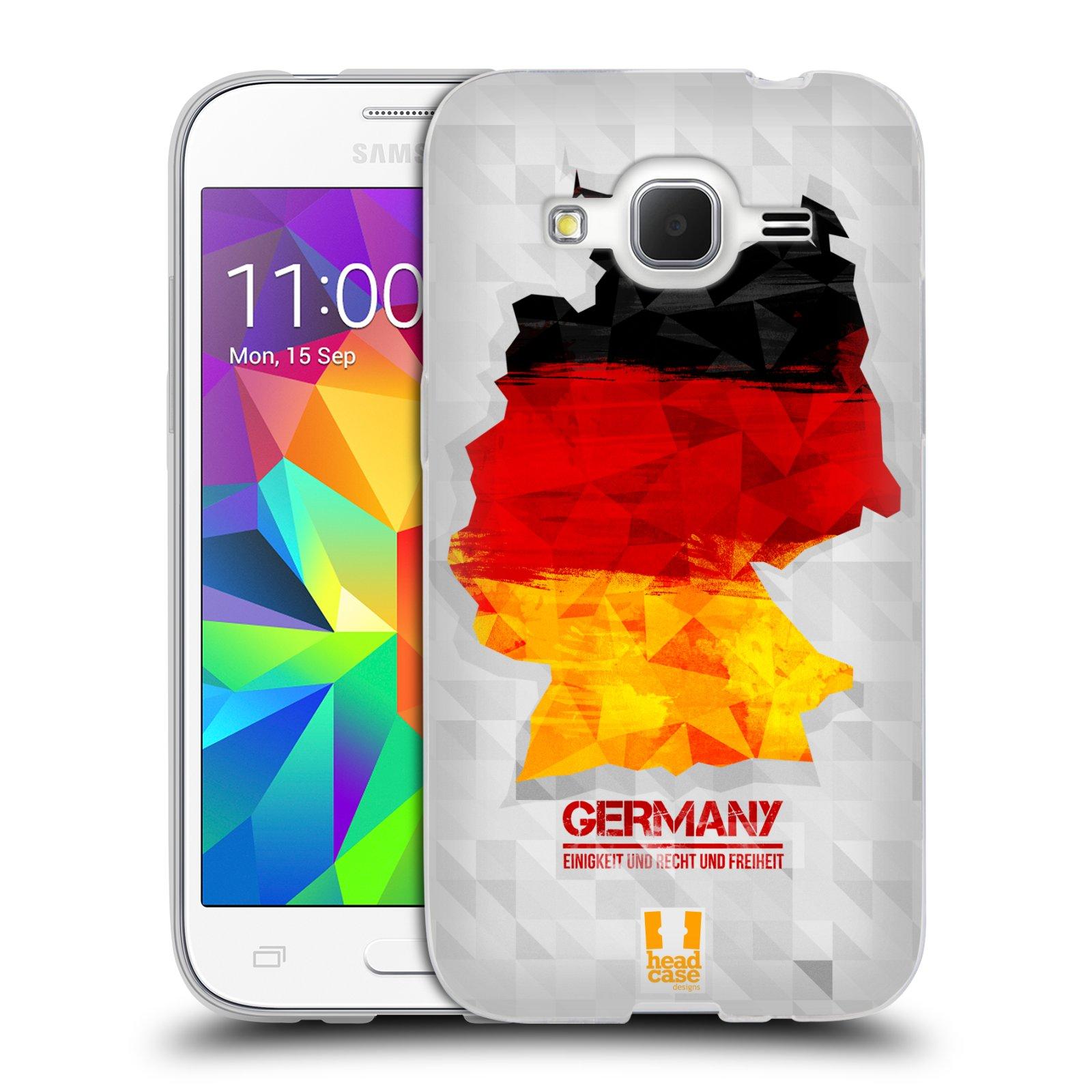 Silikonové pouzdro na mobil Samsung Galaxy Core Prime LTE HEAD CASE GEOMAPA NĚMECKO (Silikonový kryt či obal na mobilní telefon Samsung Galaxy Core Prime LTE SM-G360)