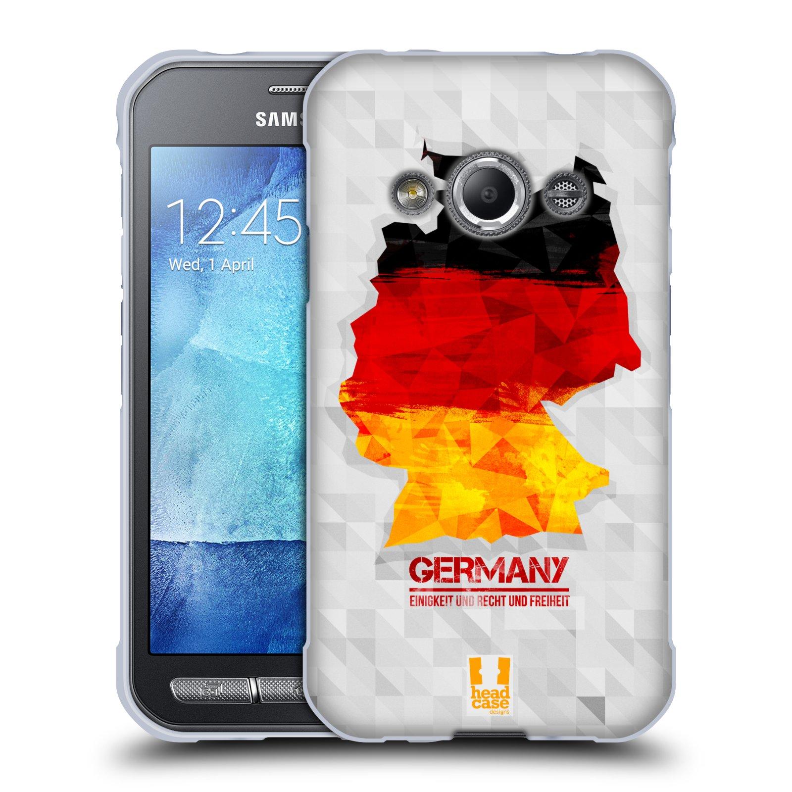 Silikonové pouzdro na mobil Samsung Galaxy Xcover 3 HEAD CASE GEOMAPA NĚMECKO (Silikonový kryt či obal na mobilní telefon Samsung Galaxy Xcover 3 SM-G388F)