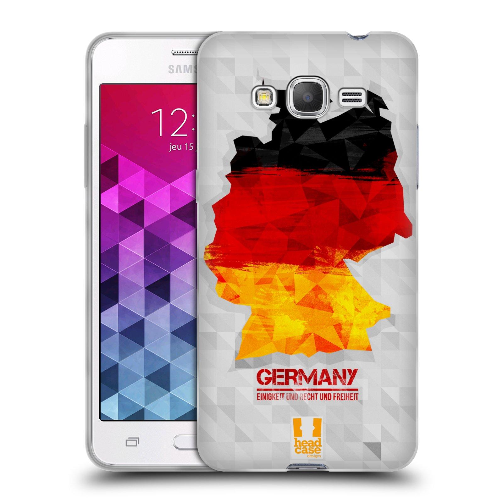 Silikonové pouzdro na mobil Samsung Galaxy Grand Prime VE HEAD CASE GEOMAPA NĚMECKO (Silikonový kryt či obal na mobilní telefon Samsung Galaxy Grand Prime VE SM-G531F)