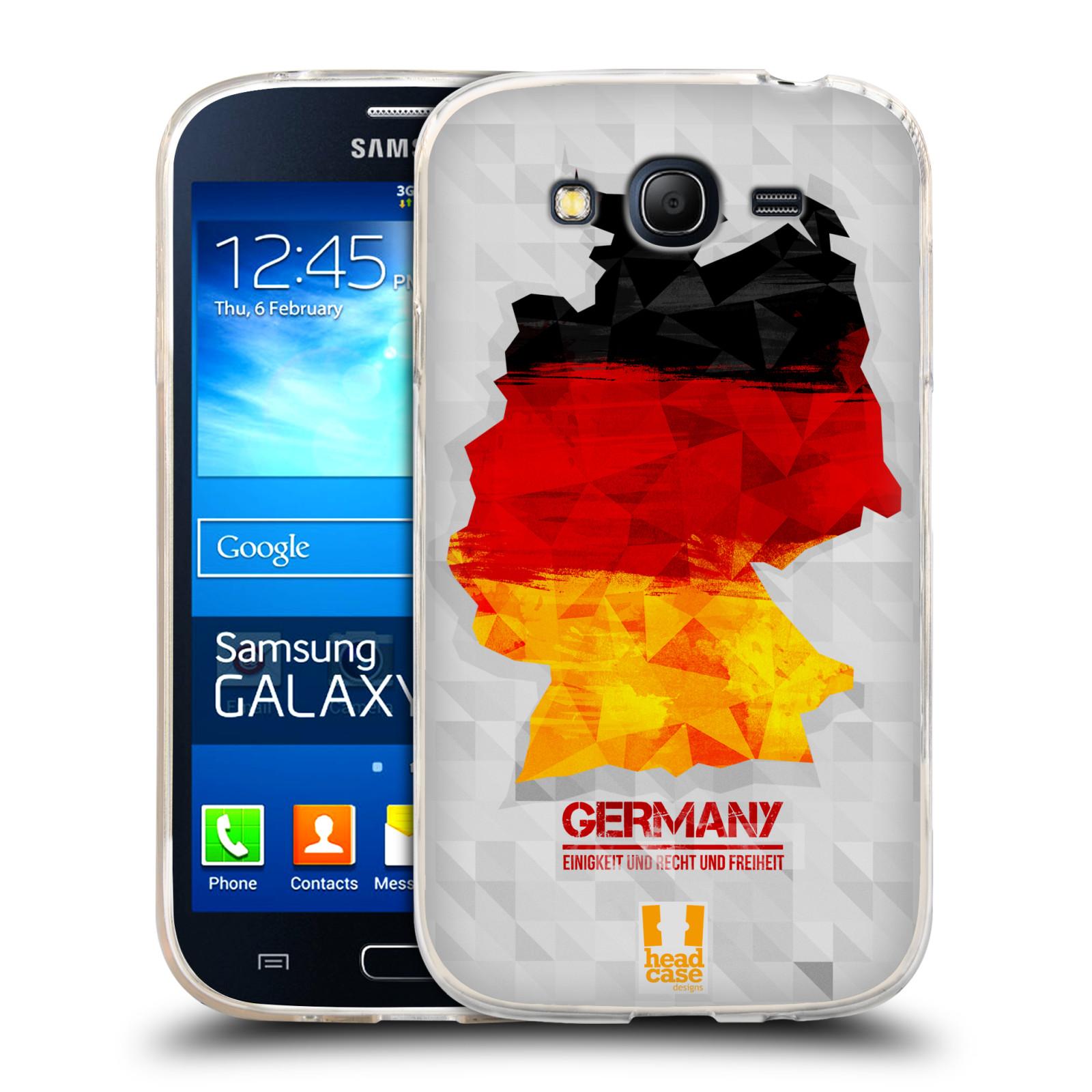 Silikonové pouzdro na mobil Samsung Galaxy Grand Neo HEAD CASE GEOMAPA NĚMECKO (Silikonový kryt či obal na mobilní telefon Samsung Galaxy Grand Neo GT-I9060)