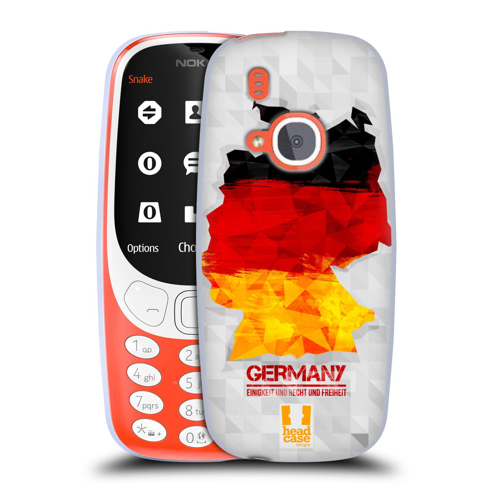 Silikonové pouzdro na mobil Nokia 3310 - Head Case - GEOMAPA NĚMECKO (Silikonový kryt či obal na mobilní telefon Nokia 3310 (2017) s motivem GEOMAPA NĚMECKO)