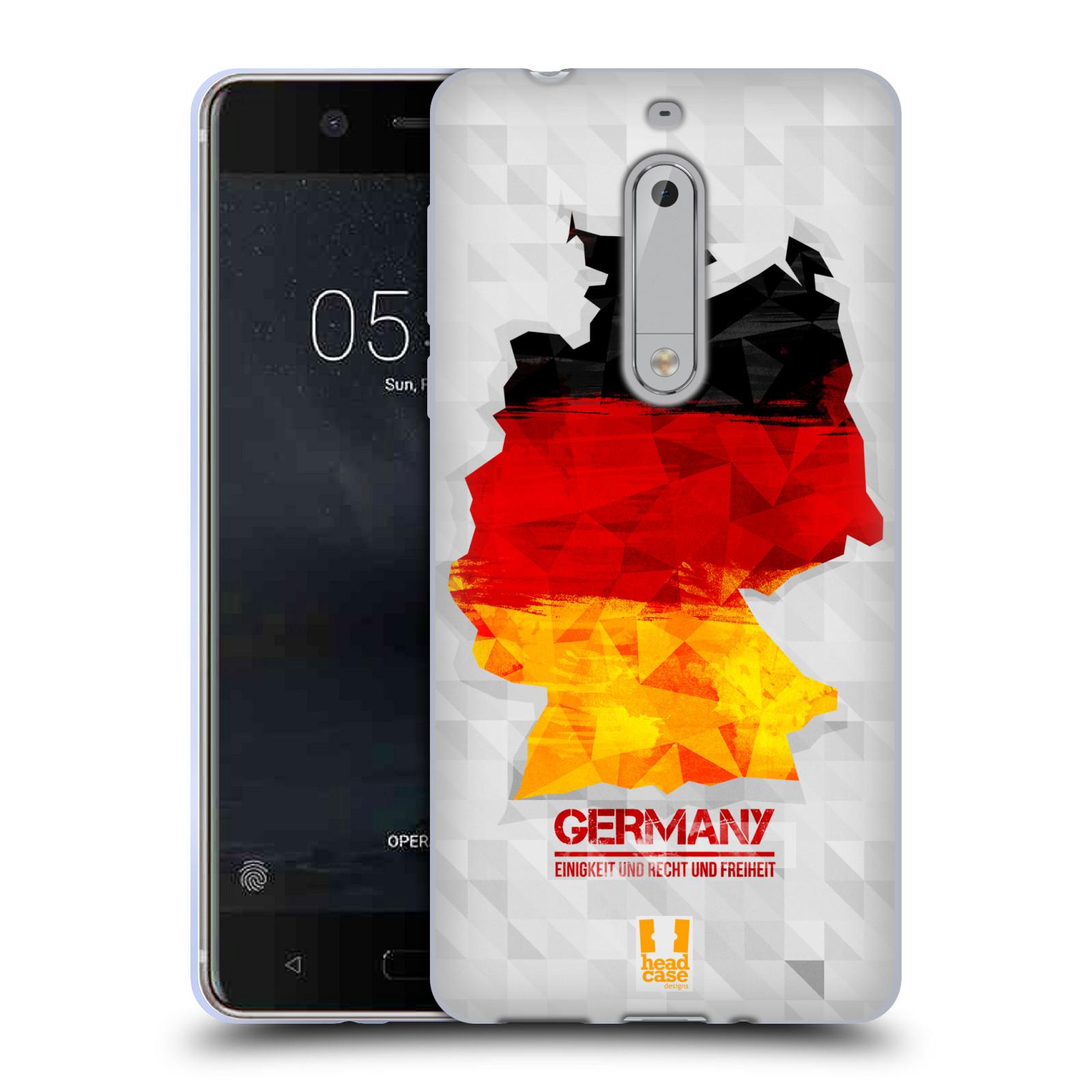 Silikonové pouzdro na mobil Nokia 5 Head Case - GEOMAPA NĚMECKO