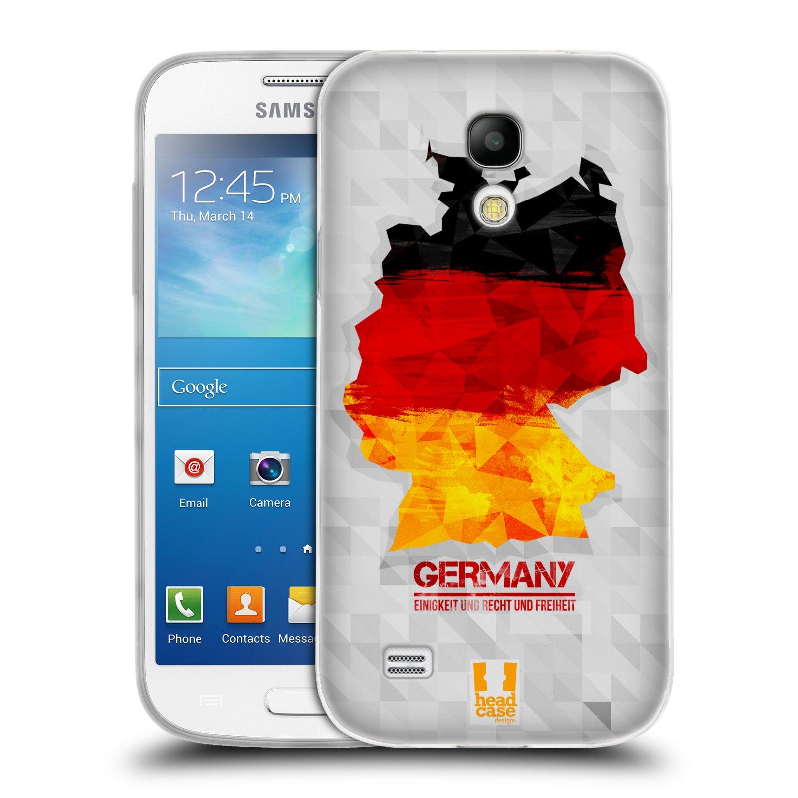 Silikonové pouzdro na mobil Samsung Galaxy S4 Mini HEAD CASE GEOMAPA NĚMECKO (Silikonový kryt či obal na mobilní telefon Samsung Galaxy S4 Mini GT-i9195 / i9190 (nepasuje na verzi Black Edition))