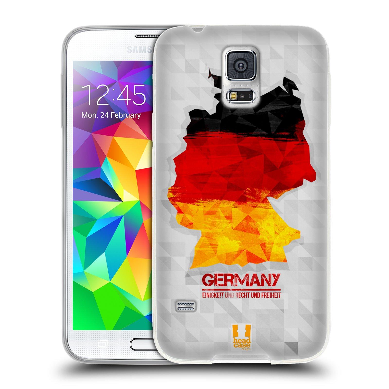 Silikonové pouzdro na mobil Samsung Galaxy S5 HEAD CASE GEOMAPA NĚMECKO (Silikonový kryt či obal na mobilní telefon Samsung Galaxy S5 SM-G900F)