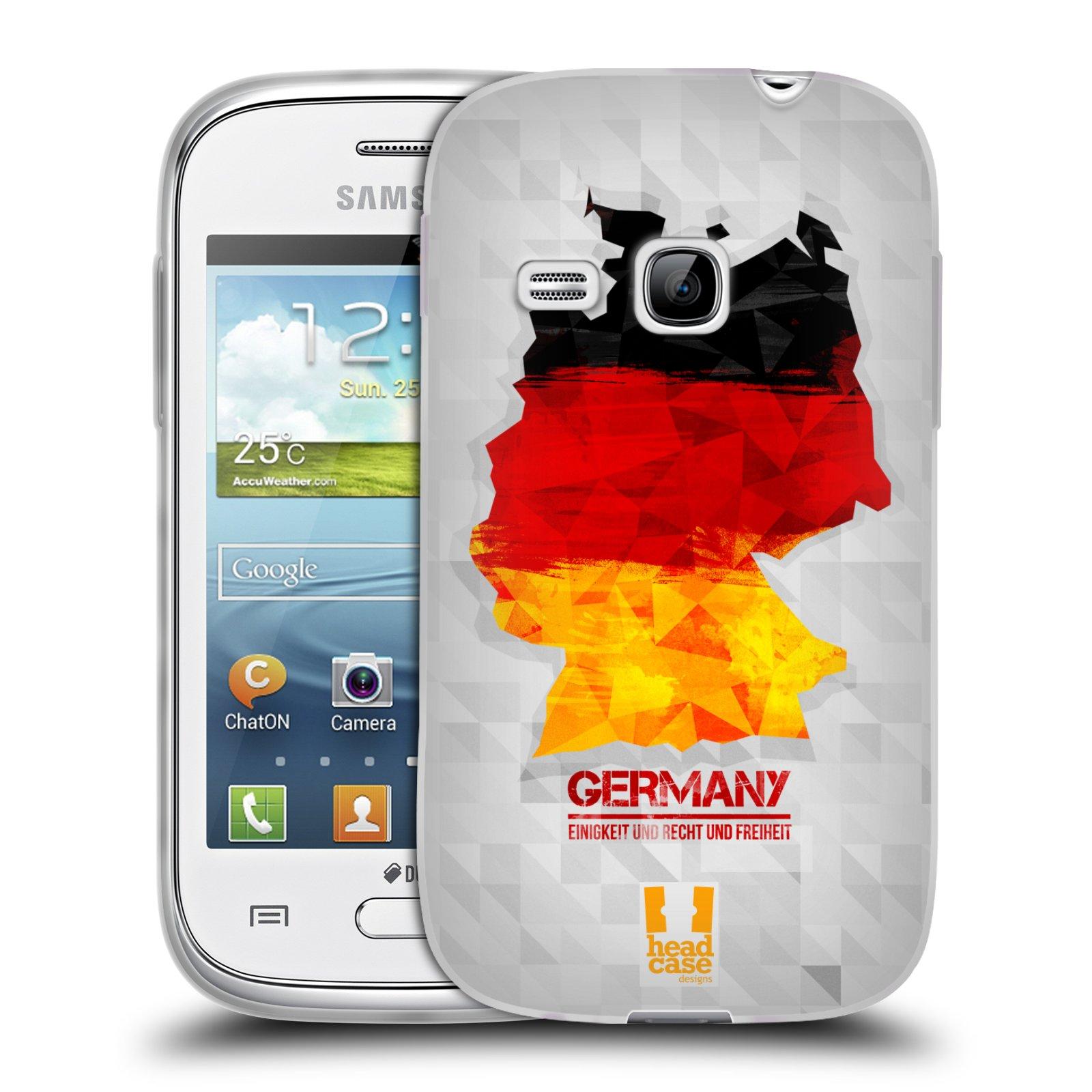 Silikonové pouzdro na mobil Samsung Galaxy Young HEAD CASE GEOMAPA NĚMECKO (Silikonový kryt či obal na mobilní telefon Samsung Galaxy Young GT-S6310)