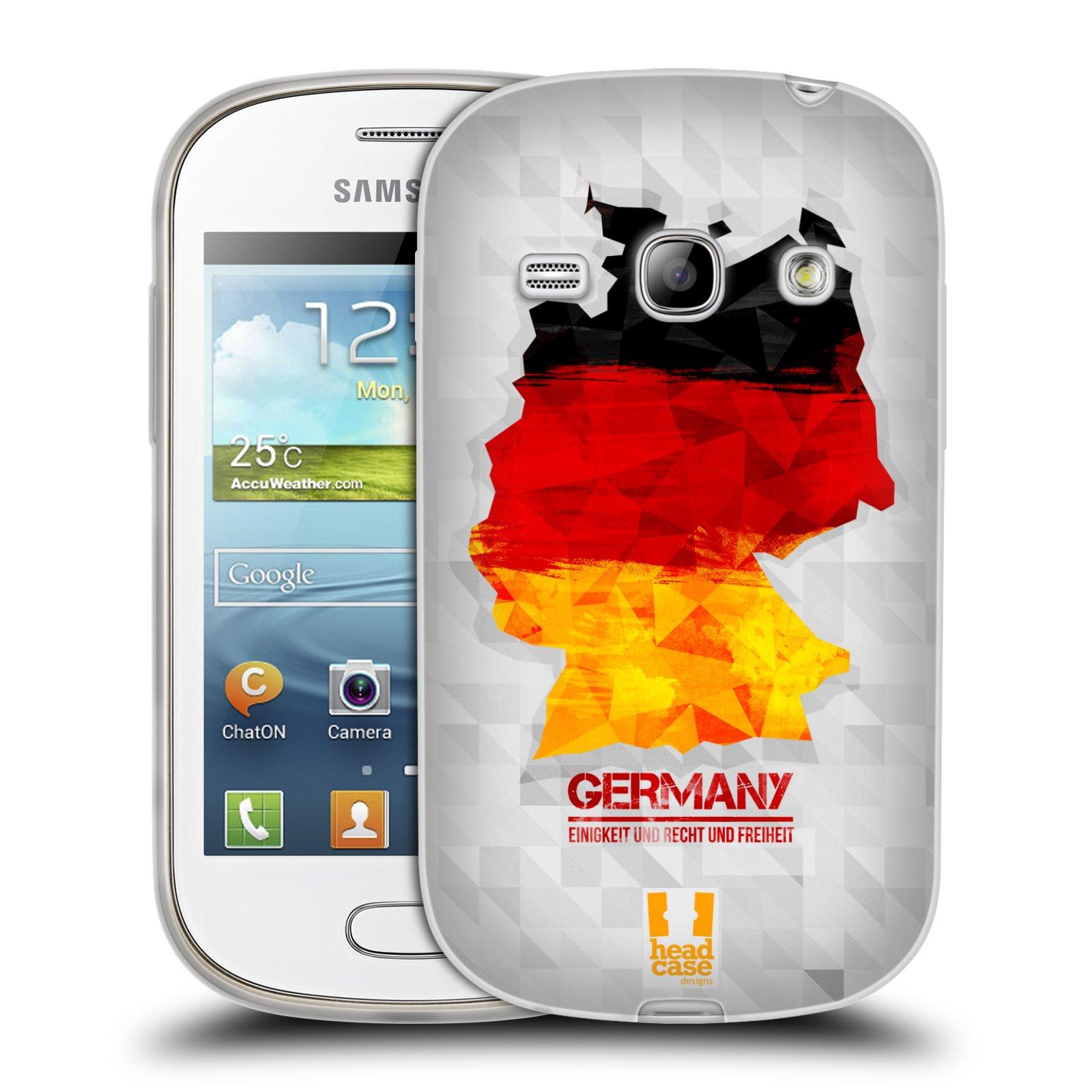Silikonové pouzdro na mobil Samsung Galaxy Fame HEAD CASE GEOMAPA NĚMECKO (Silikonový kryt či obal na mobilní telefon Samsung Galaxy Fame GT-S6810)