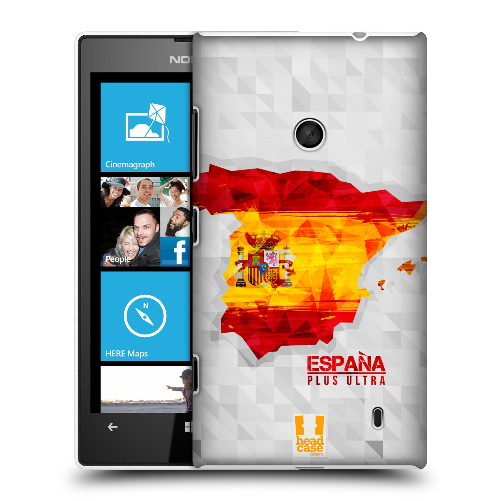 Plastové pouzdro na mobil Nokia Lumia 520 HEAD CASE GEOMAPA ŠPANĚLSKO (Kryt či obal na mobilní telefon Nokia Lumia 520 )