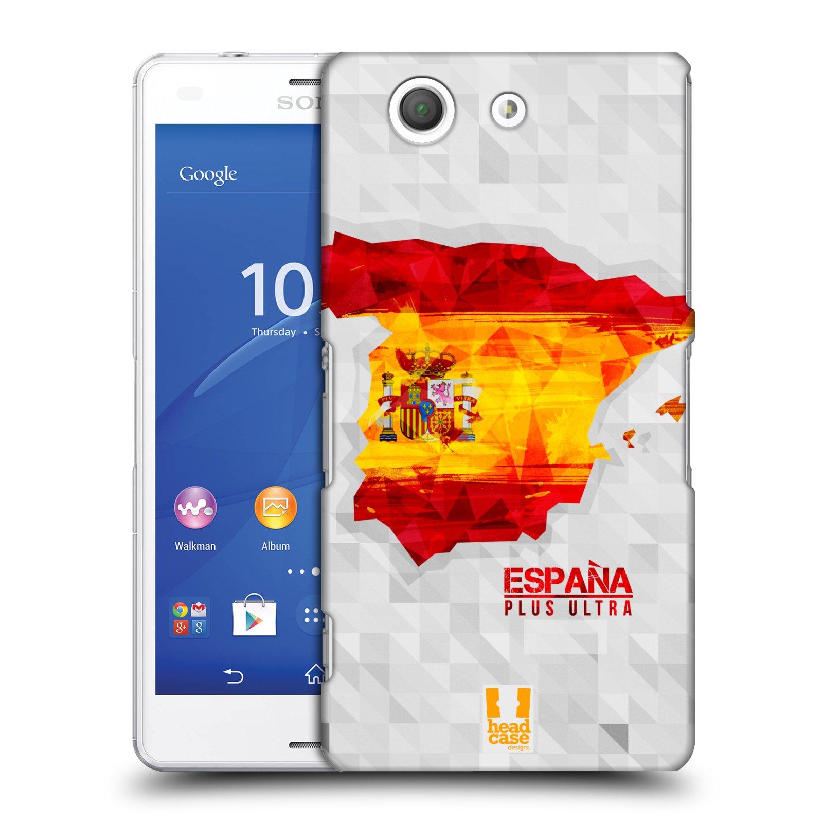 Plastové pouzdro na mobil Sony Xperia Z3 Compact D5803 HEAD CASE GEOMAPA ŠPANĚLSKO