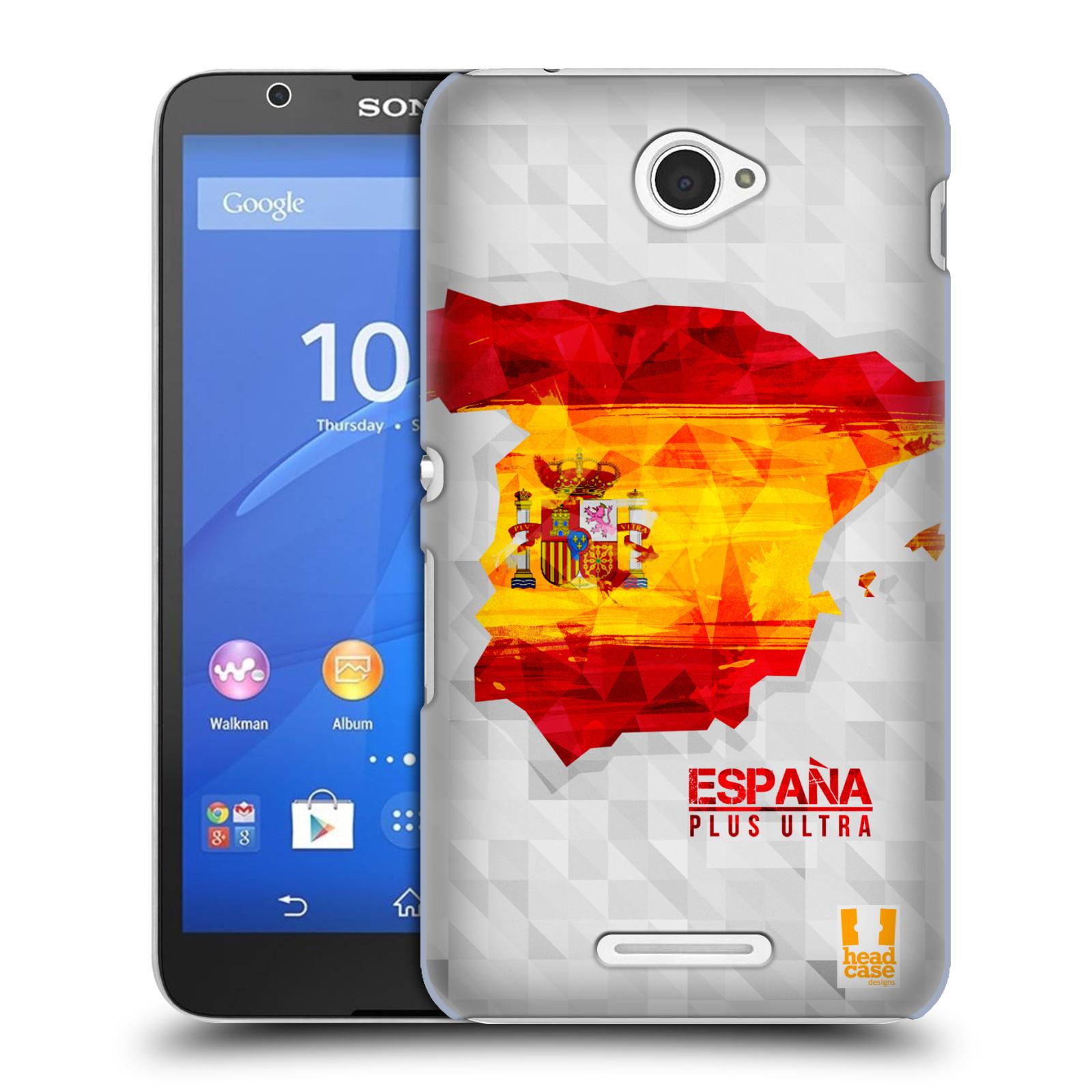 Plastové pouzdro na mobil Sony Xperia E4 E2105 HEAD CASE GEOMAPA ŠPANĚLSKO (Kryt či obal na mobilní telefon Sony Xperia E4 a E4 Dual SIM)