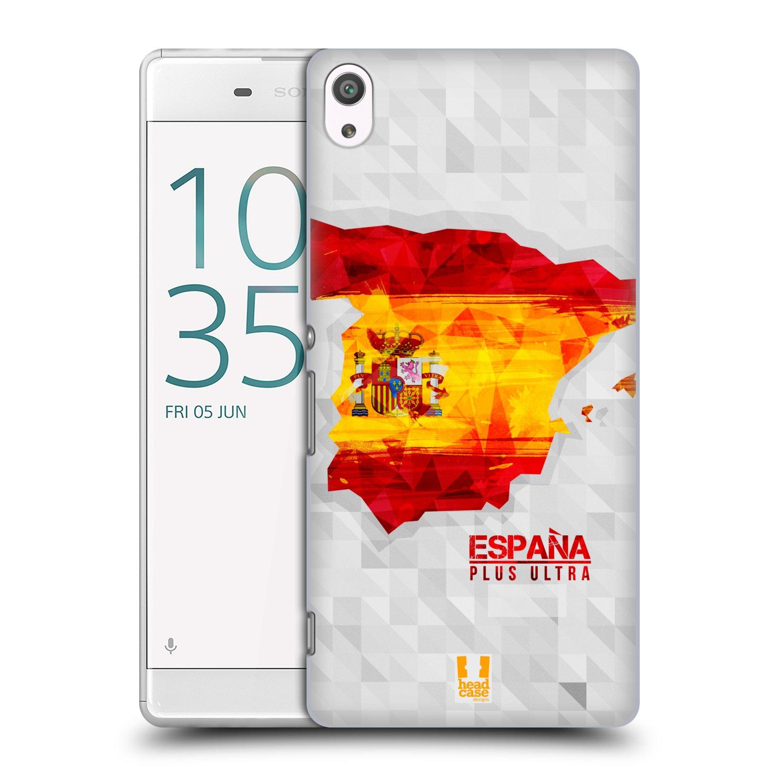 Plastové pouzdro na mobil Sony Xperia XA Ultra HEAD CASE GEOMAPA ŠPANĚLSKO (Plastový kryt či obal na mobilní telefon Sony Xperia XA Ultra F3211)