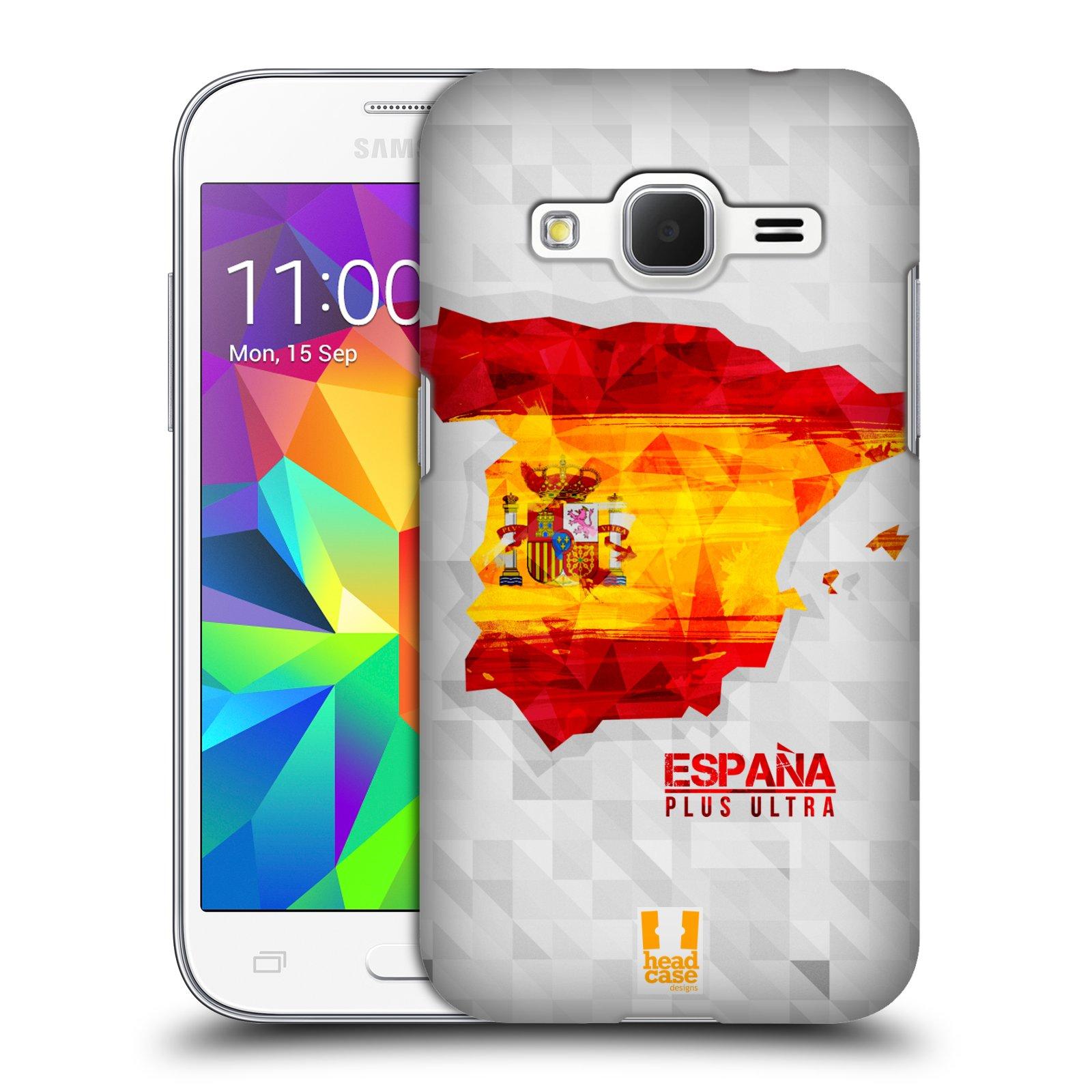 Plastové pouzdro na mobil Samsung Galaxy Core Prime VE HEAD CASE GEOMAPA ŠPANĚLSKO (Kryt či obal na mobilní telefon Samsung Galaxy Core Prime LTE VE SM-G361F)