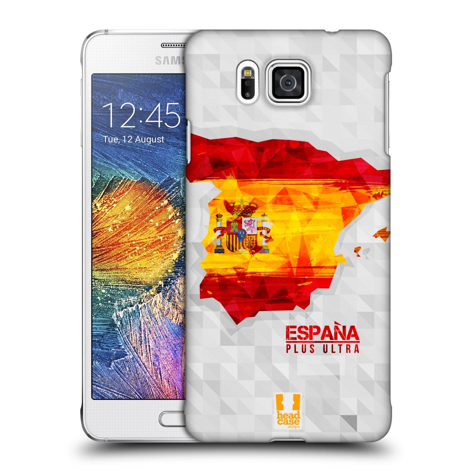 Plastové pouzdro na mobil Samsung Galaxy Alpha HEAD CASE GEOMAPA ŠPANĚLSKO (Kryt či obal na mobilní telefon Samsung Galaxy Alpha SM-G850)