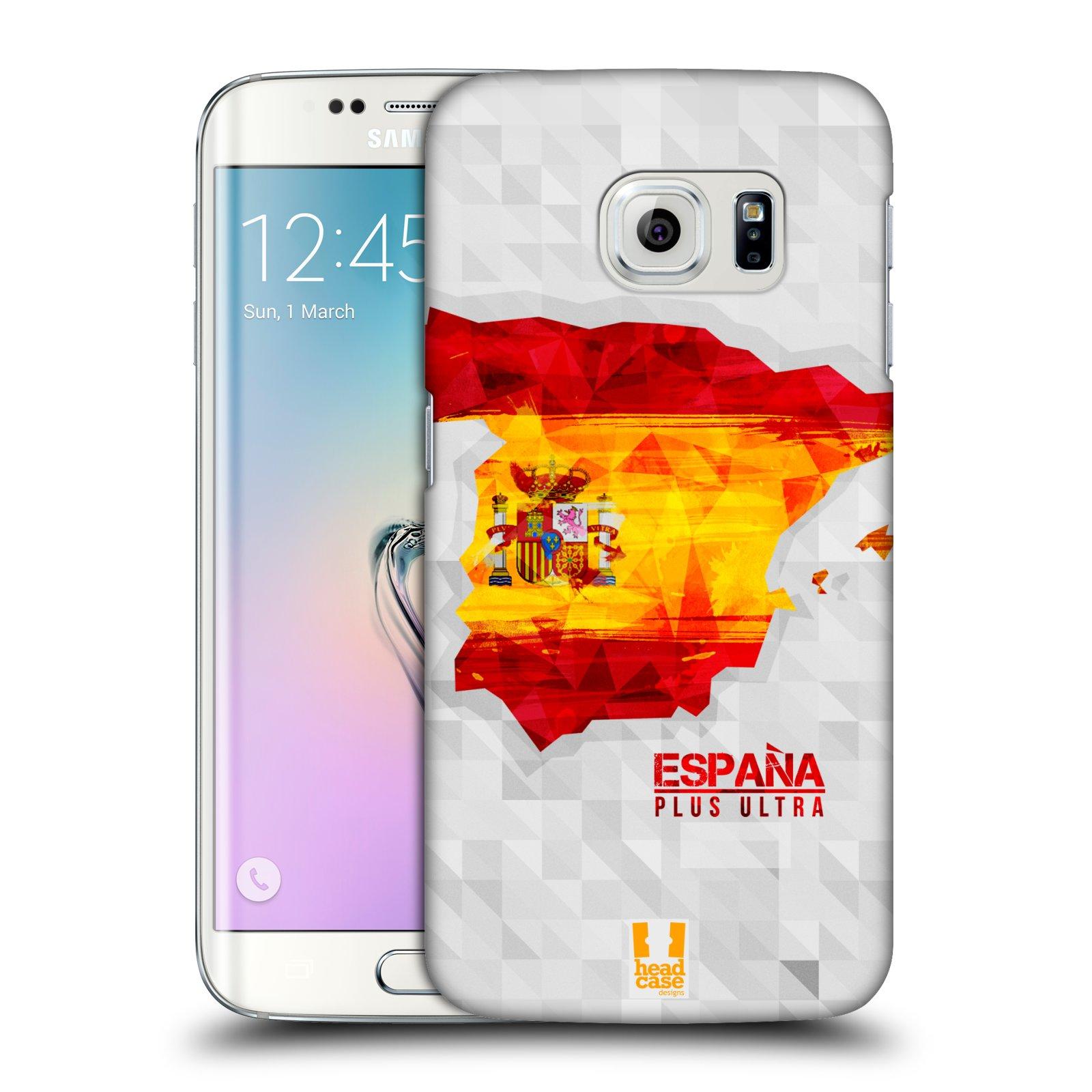 Plastové pouzdro na mobil Samsung Galaxy S6 Edge HEAD CASE GEOMAPA ŠPANĚLSKO (Kryt či obal na mobilní telefon Samsung Galaxy S6 Edge SM-G925F)