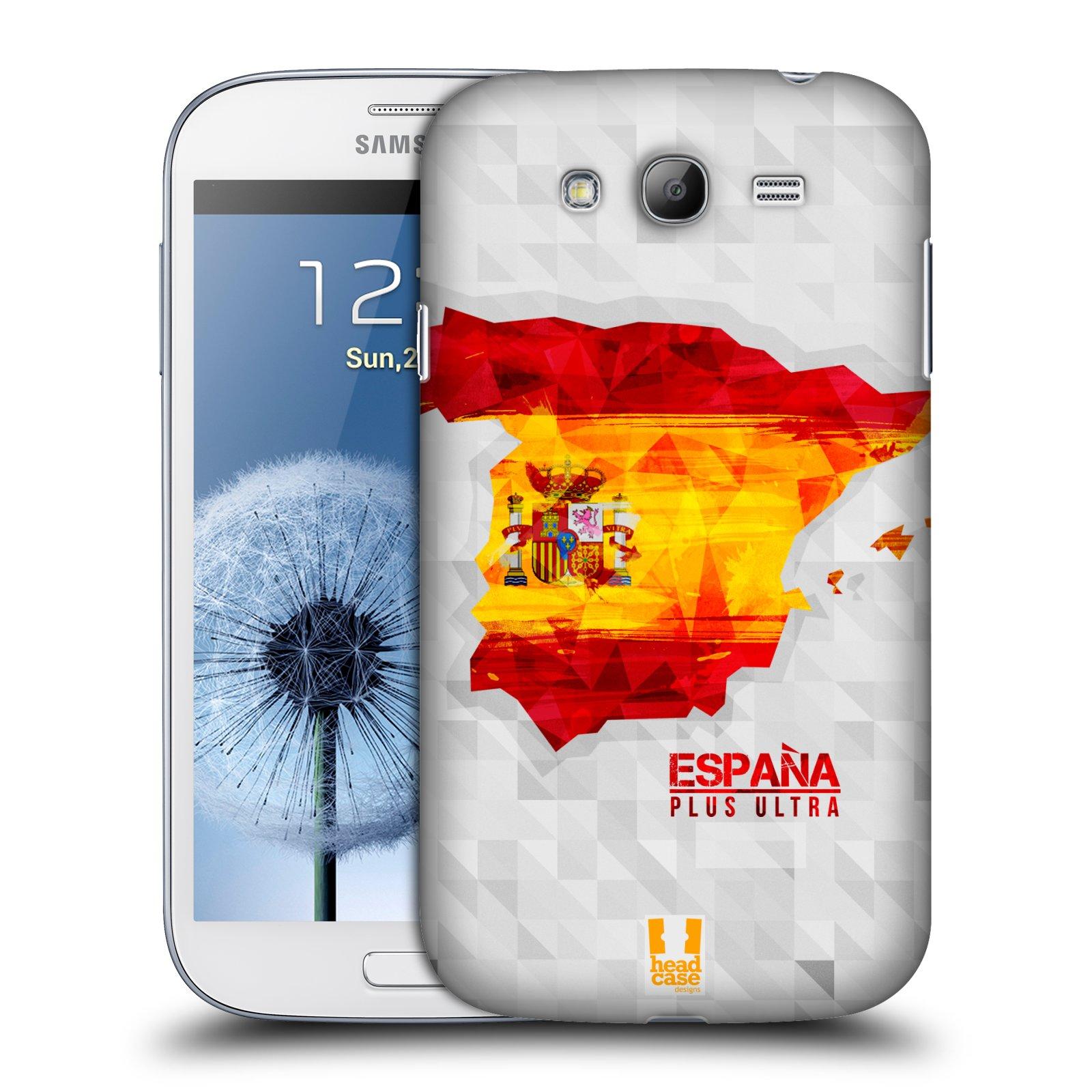 Plastové pouzdro na mobil Samsung Galaxy Grand Neo Plus HEAD CASE GEOMAPA ŠPANĚLSKO (Kryt či obal na mobilní telefon Samsung Galaxy Grand Neo Plus GT-i9060i)