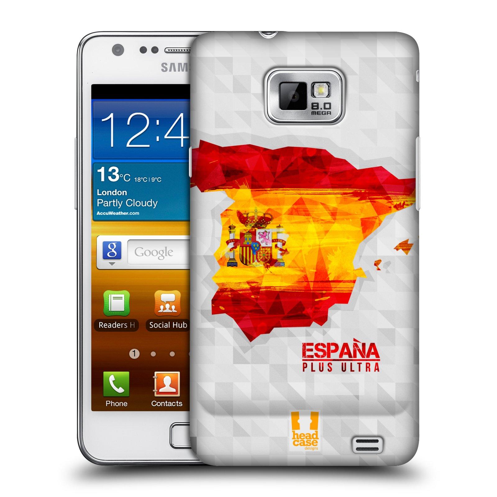 Plastové pouzdro na mobil Samsung Galaxy S II HEAD CASE GEOMAPA ŠPANĚLSKO (Kryt či obal na mobilní telefon Samsung Galaxy S II GT-i9100)