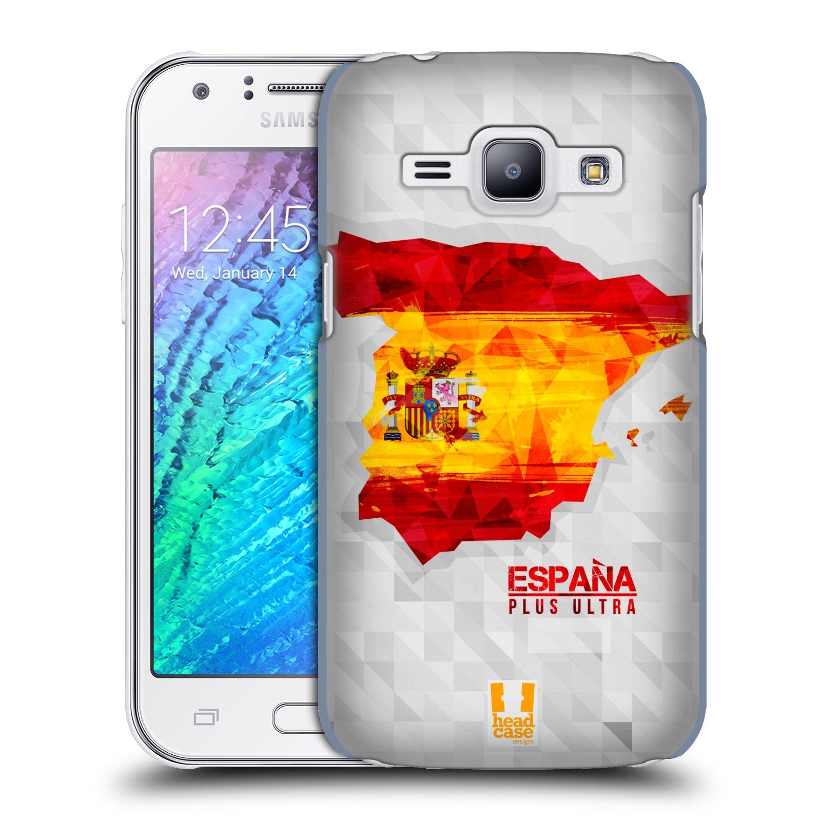 Plastové pouzdro na mobil Samsung Galaxy J1 HEAD CASE GEOMAPA ŠPANĚLSKO (Kryt či obal na mobilní telefon Samsung Galaxy J1 a J1 Duos )